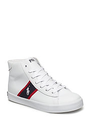 GEOFF MID - WHITE TUMBLED/NAVY/RED W WHITE PP