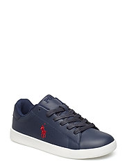 QUILTON - NAVY LEATHER W RED PP