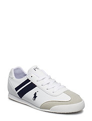EMMONS - WHITE SMOOTH/SAND MICROSUEDE W/NAVY STRIPE & PP