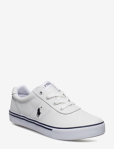 HANFORD - WHITE LEATHER W/NAVY PP