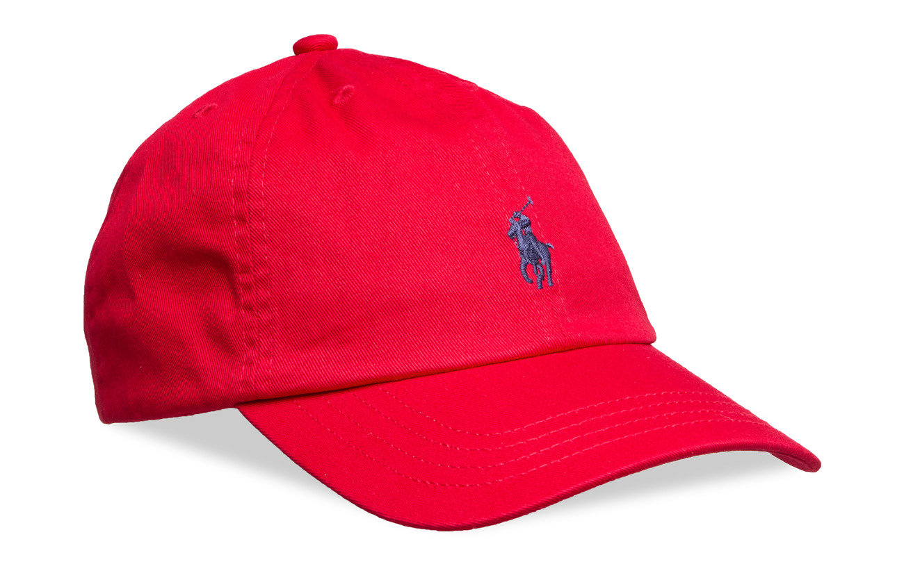 Ralph Lauren Kids Cotton Chino Baseball Cap - RL 2000 RED
