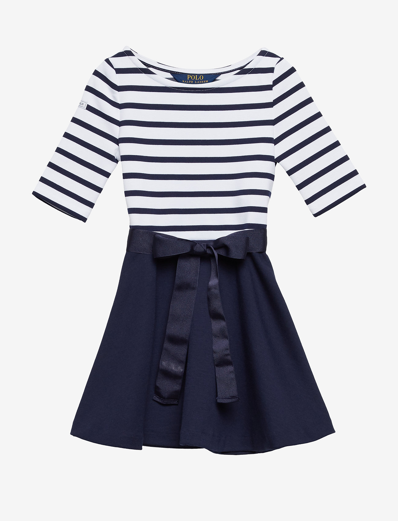 Ralph Lauren Kids - Two-Tone Ponte Dress - robes - french navy/white - 0