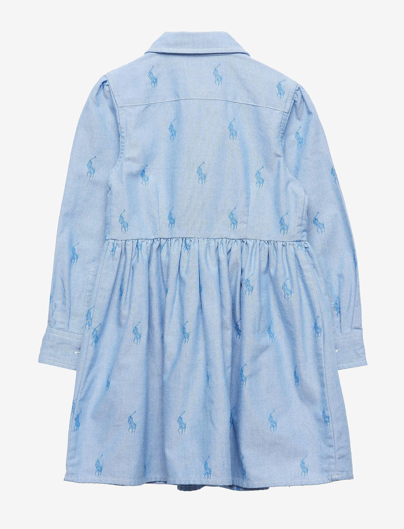 Ralph Lauren Kids - Pony Cotton Shirtdress - dresses - oxford blue - 1