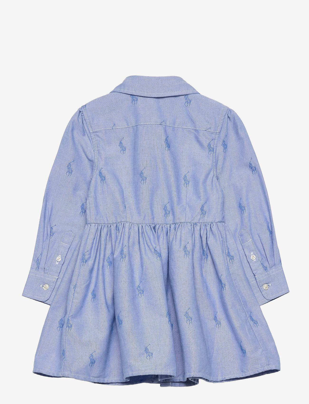 Ralph Lauren Kids - Pony Cotton Shirtdress - kleider - oxford blue - 1