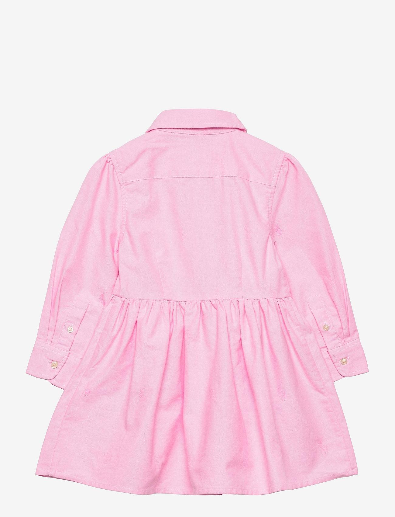Ralph Lauren Kids - Pony Cotton Shirtdress - kleider - pink - 1