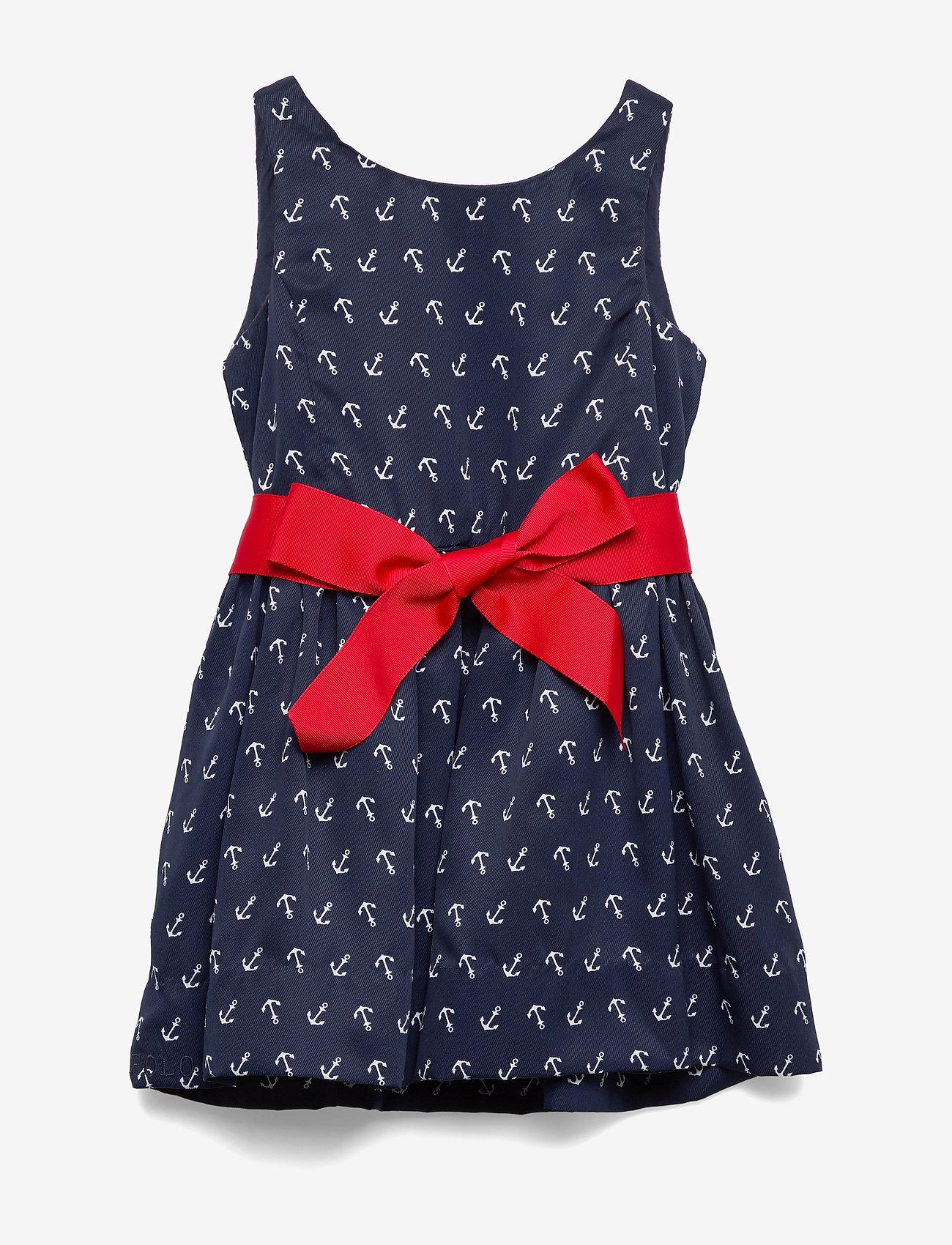 Ralph Lauren Kids - Anchor-Print Twill Dress - dresses - anchor print - 0