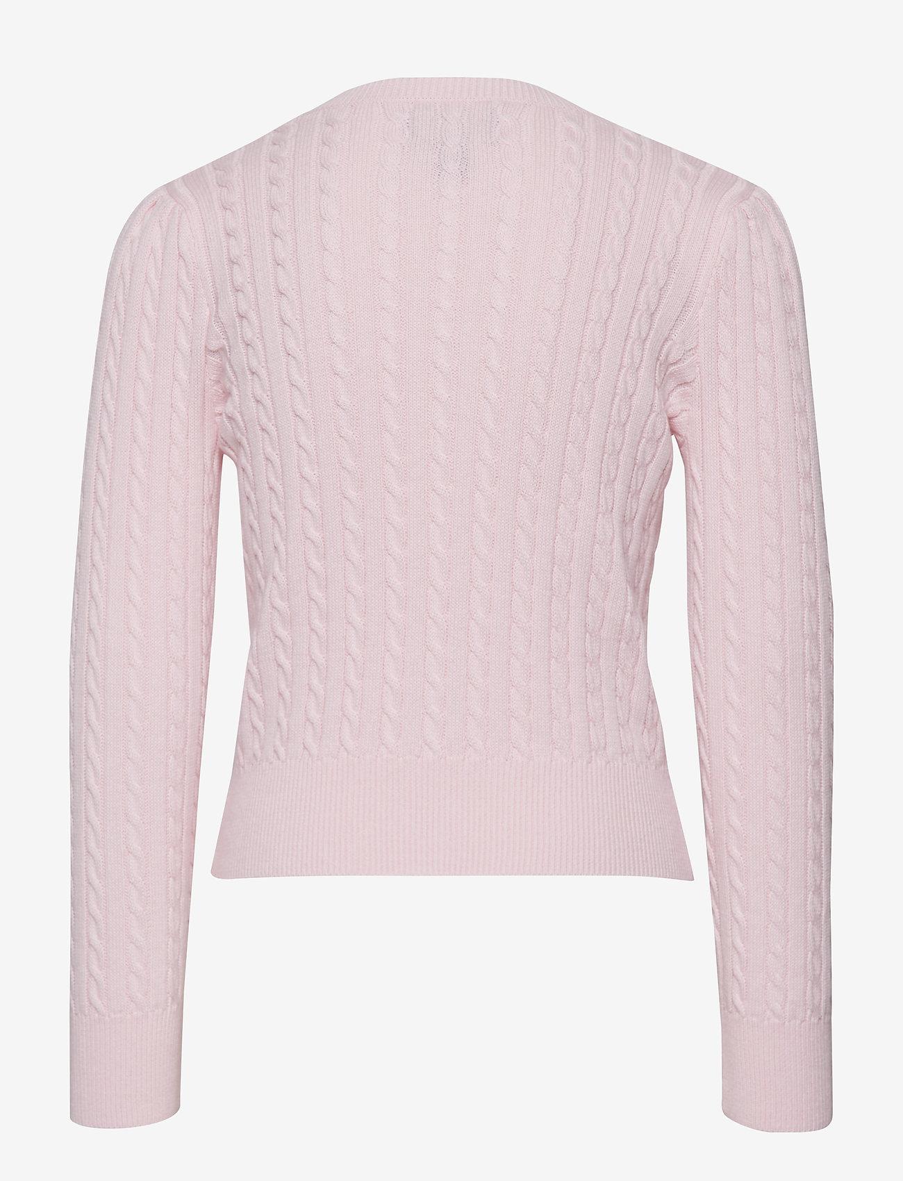 Ralph Lauren Kids - Mini-Cable Cotton Cardigan - gilets - hint of pink - 1
