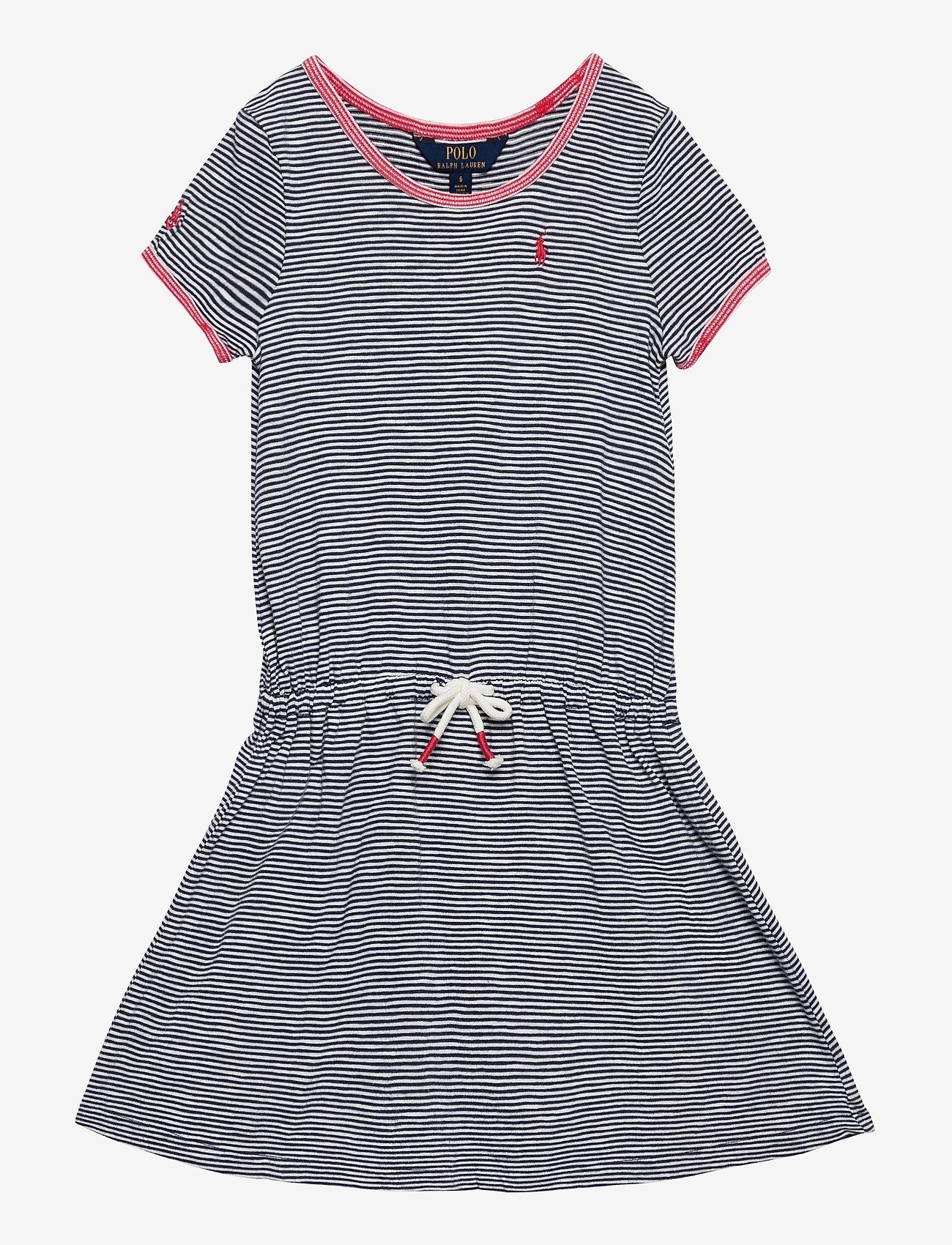 Ralph Lauren Kids - COTTON JERSEY-TSHIRT DRESS-DR-KNT - dresses - summer navy/deckw - 0