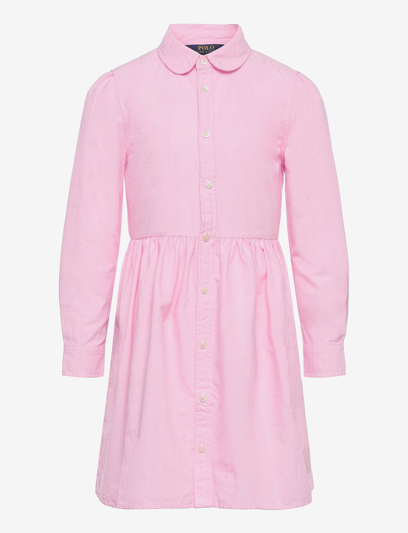 Ralph Lauren Kids - Pony Cotton Shirtdress - kleider - pink - 0
