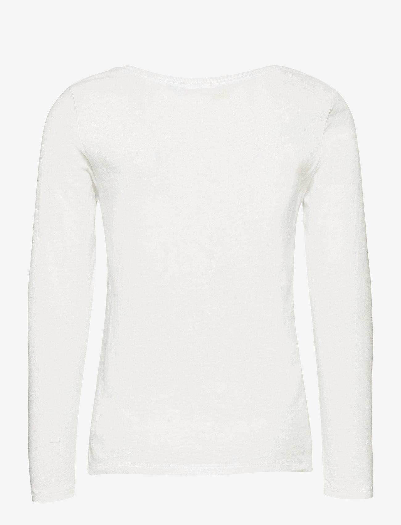Ralph Lauren Kids - Polo Bear Logo Jersey Tee - long-sleeved t-shirts - white - 1