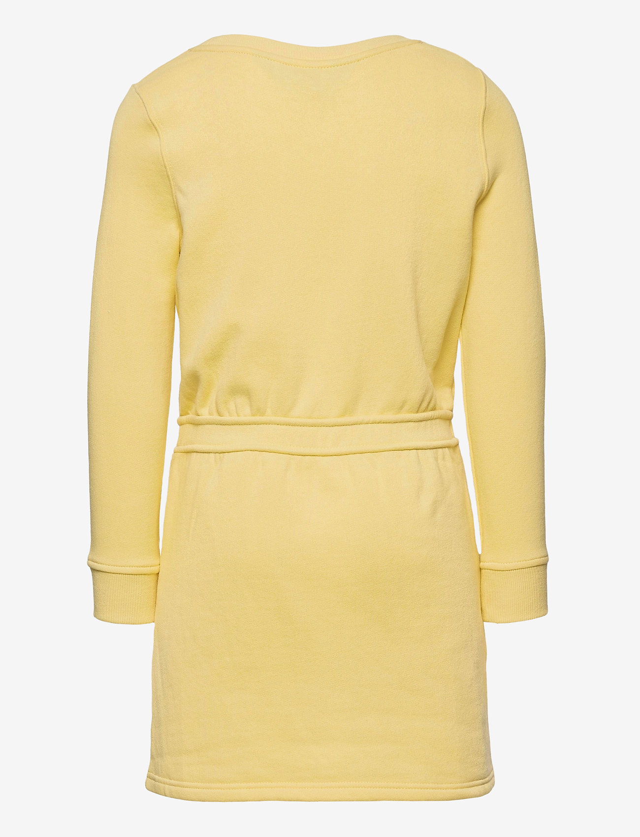 Ralph Lauren Kids - Floral-Logo Fleece Dress - dresses - banana peel - 1