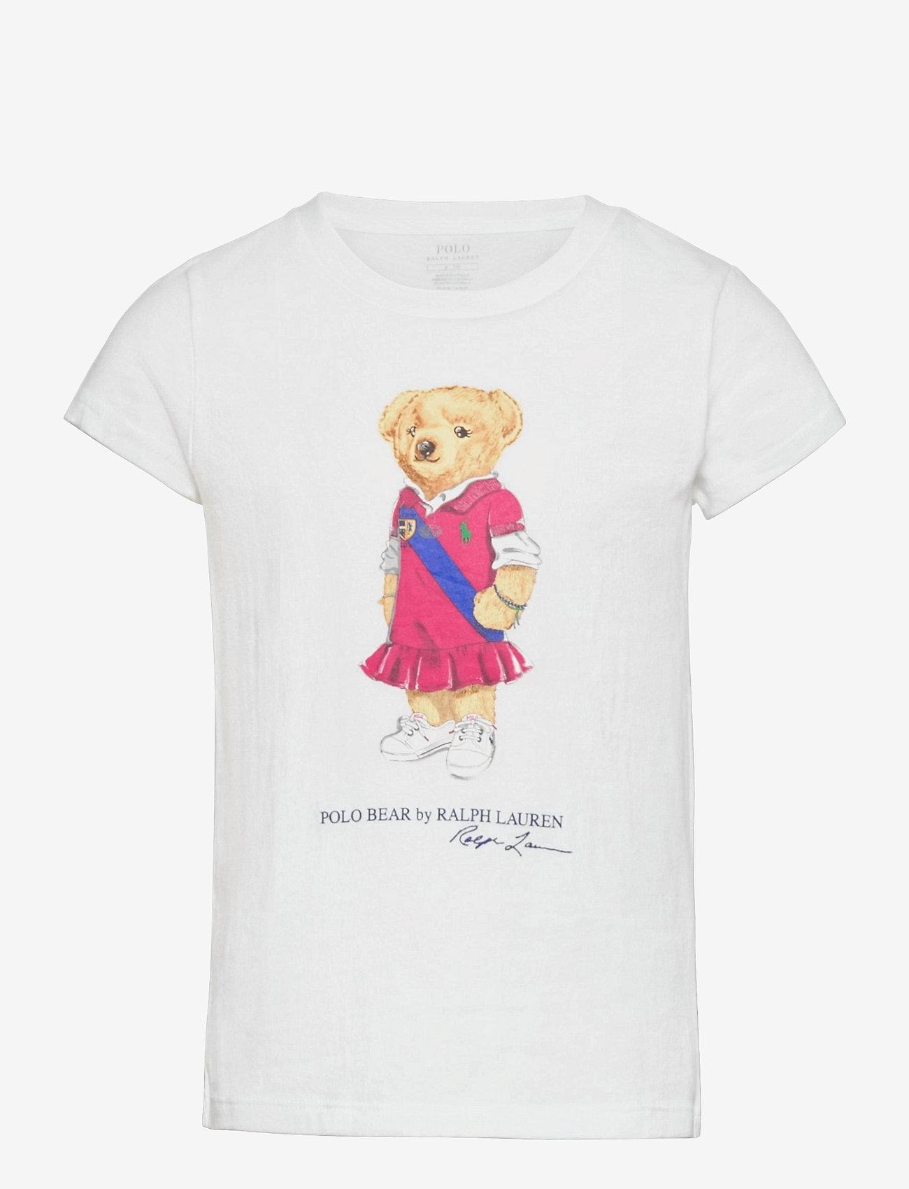 Ralph Lauren Kids - Polo Bear Cotton Jersey Tee - short-sleeved - white - 0