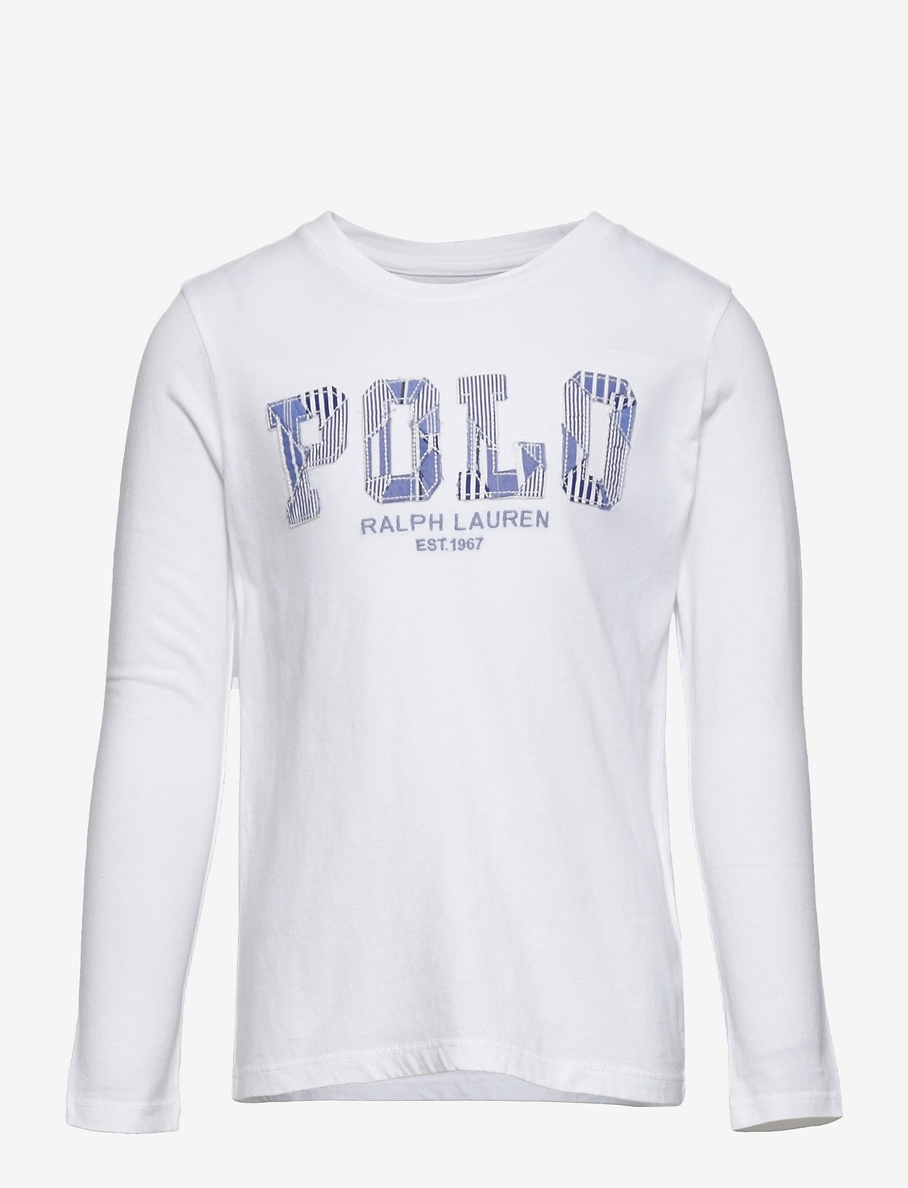 Ralph Lauren Kids - Logo Jersey Long-Sleeve Tee - long-sleeved t-shirts - white - 0