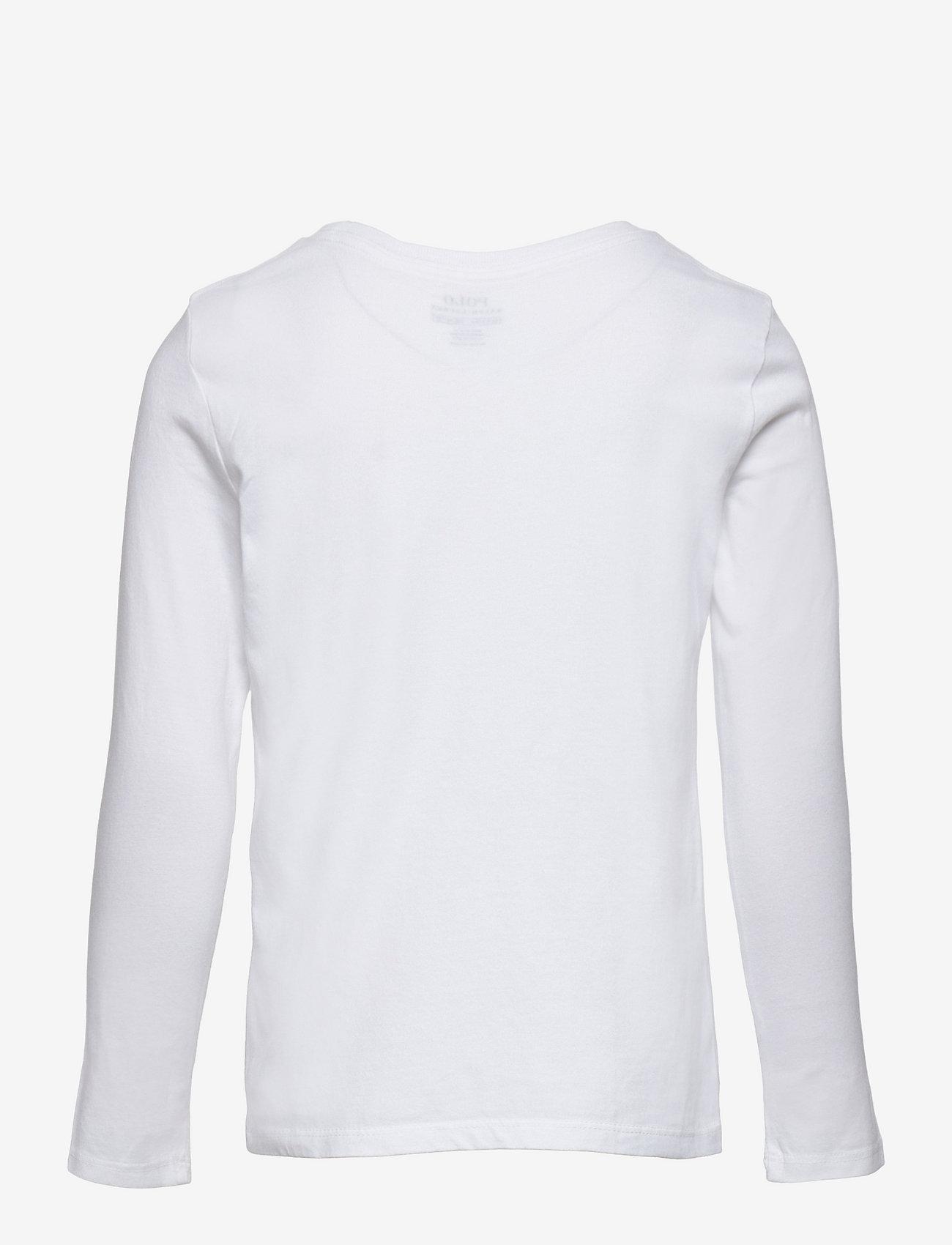 Ralph Lauren Kids - Logo Jersey Long-Sleeve Tee - long-sleeved t-shirts - white - 1