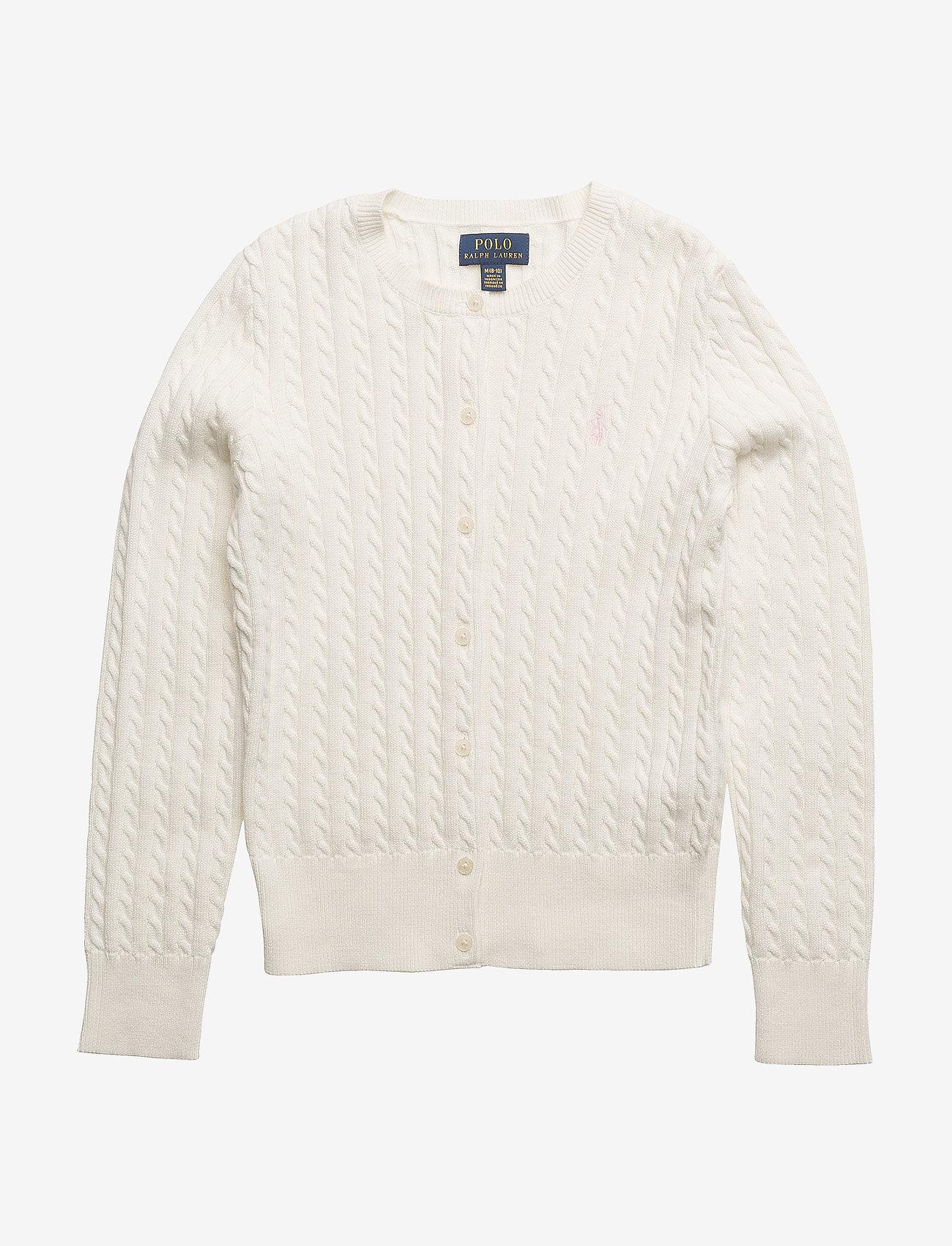 Ralph Lauren Kids - Mini-Cable Cotton Cardigan - gilets - warm white - 0