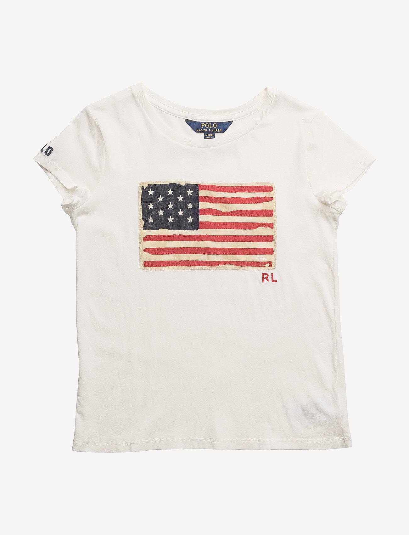 Ralph Lauren Kids - Washed Cotton Graphic Tee - short-sleeved - nevis - 0
