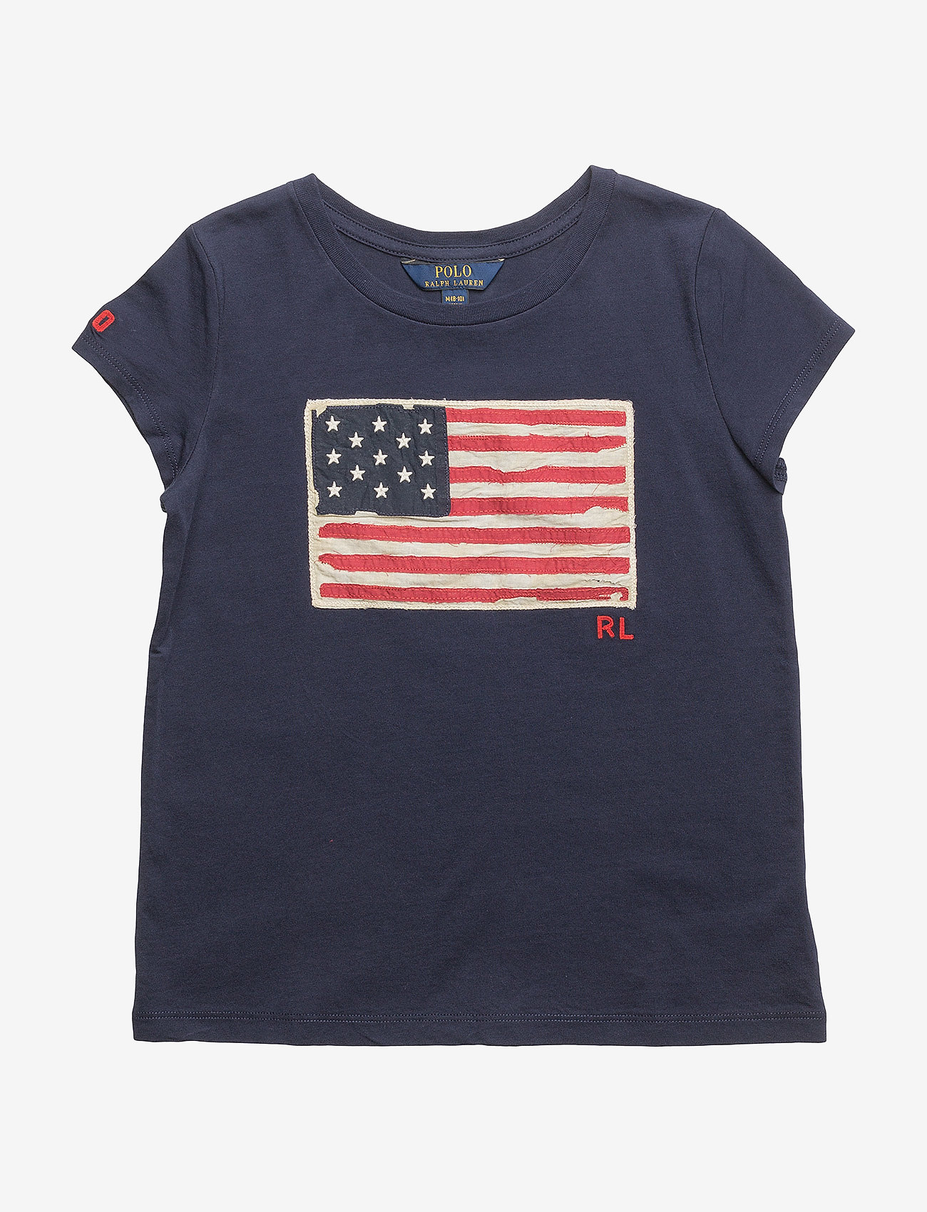 Ralph Lauren Kids - Washed Cotton Graphic Tee - short-sleeved - newport navy - 0