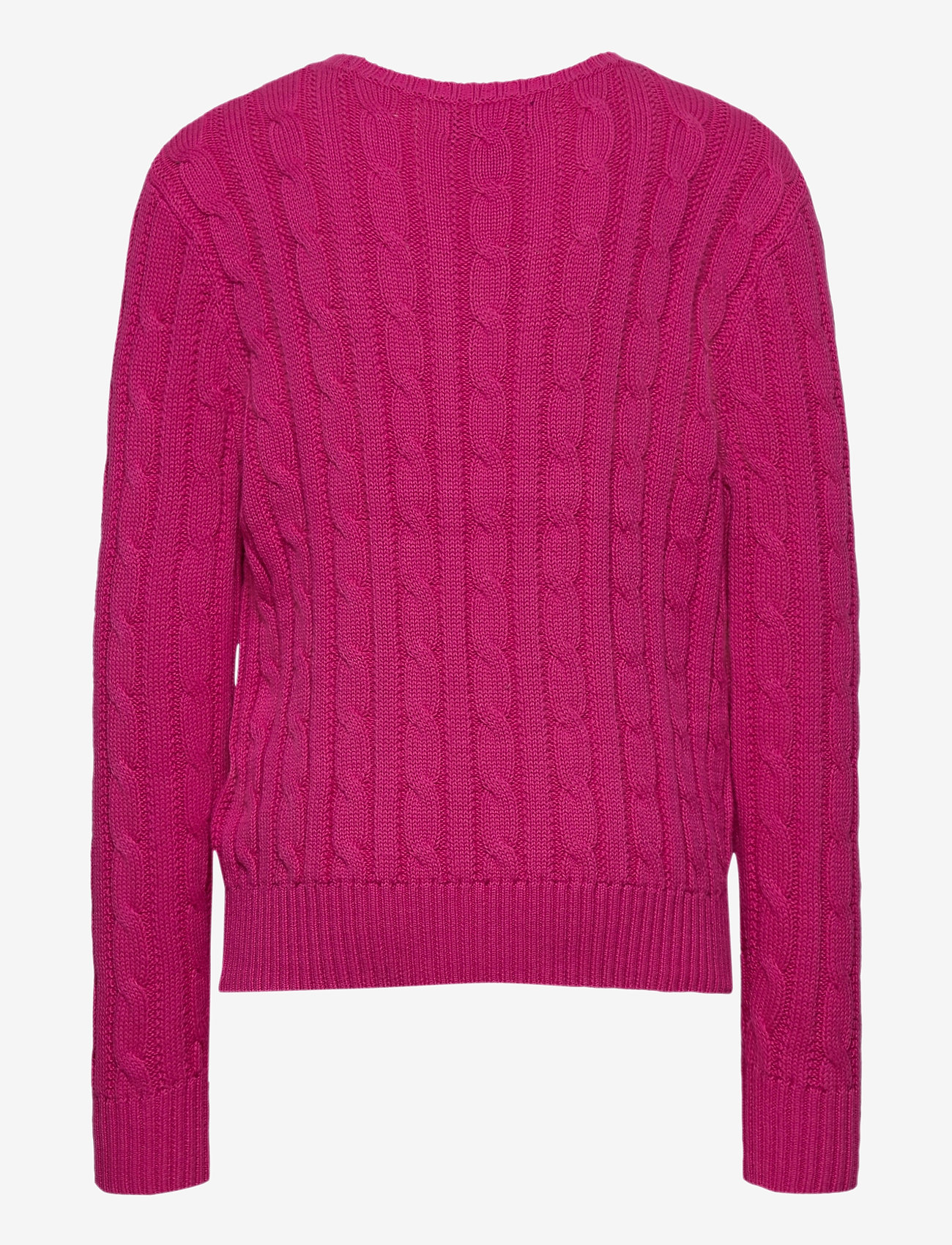 Ralph Lauren Kids - COTTON-CABLE CN-TP-SWT - knitwear - college pink/rl n - 1