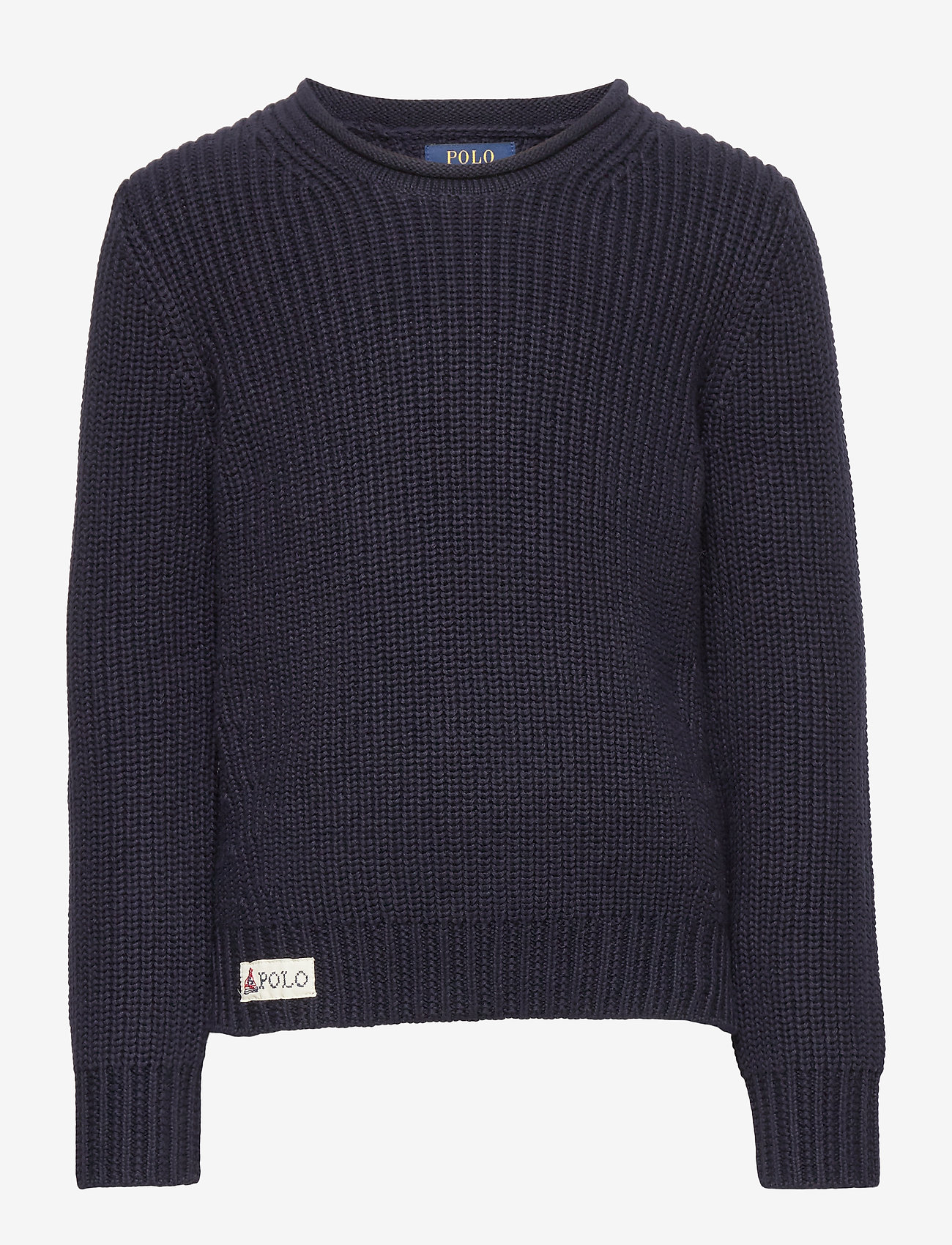 Ralph Lauren Kids - Rollneck Cotton Sweater - dzianinowe - rl navy - 0