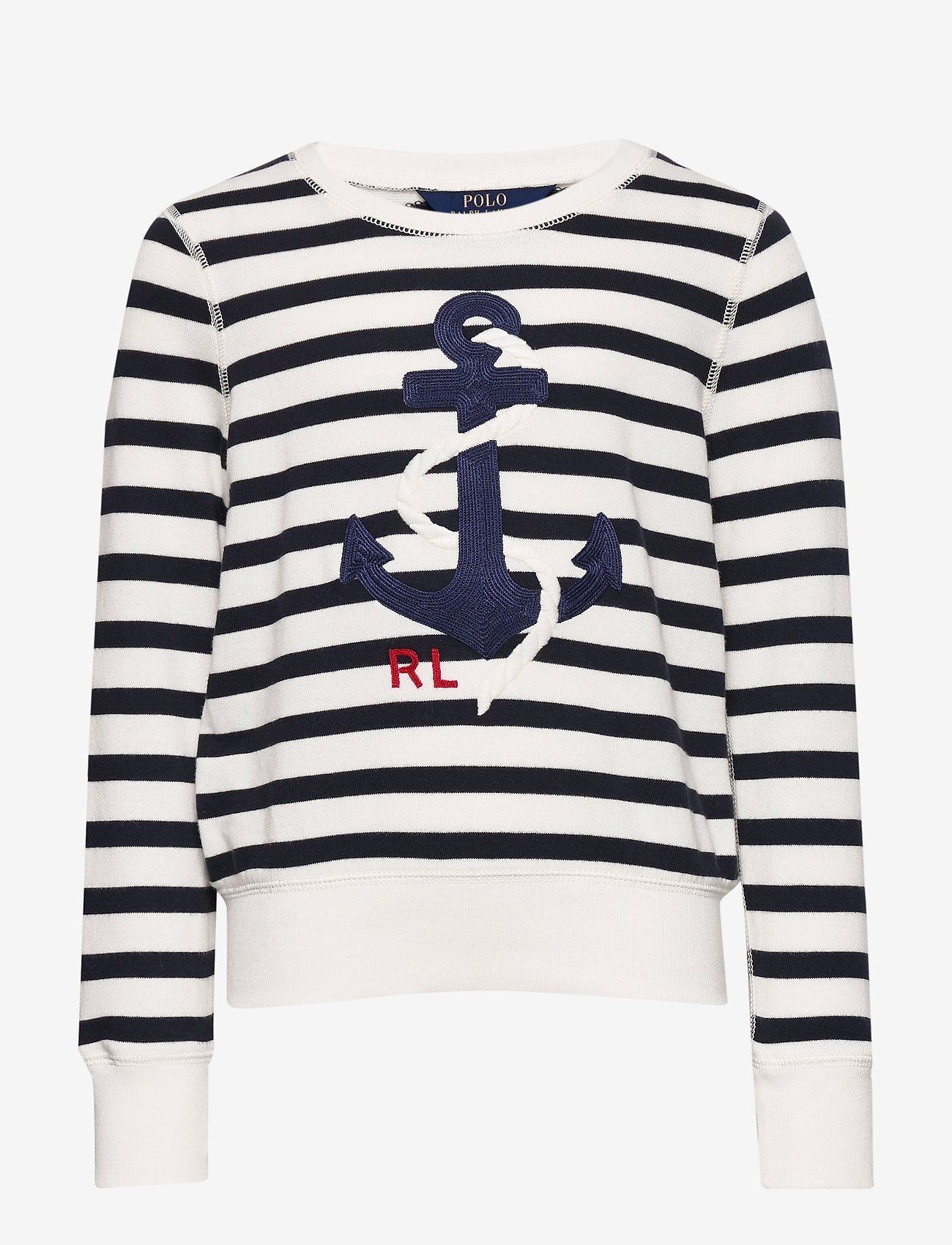 Ralph Lauren Kids - Anchor Terry Sweatshirt - sweatshirts - clubhouse cream/h - 1