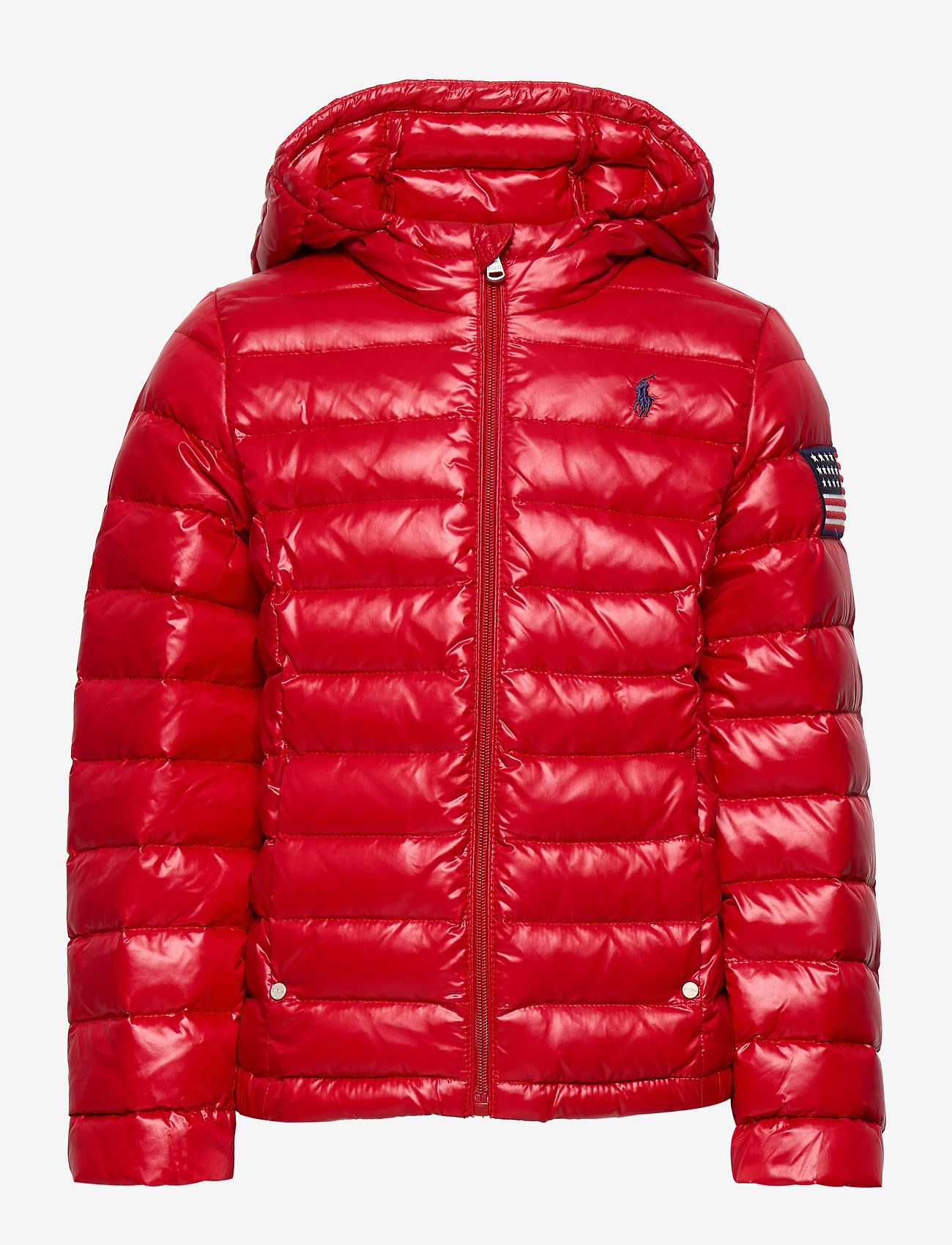 Ralph Lauren Kids - Packable Quilted Down Jacket - puffer & padded - rl 2000 red
