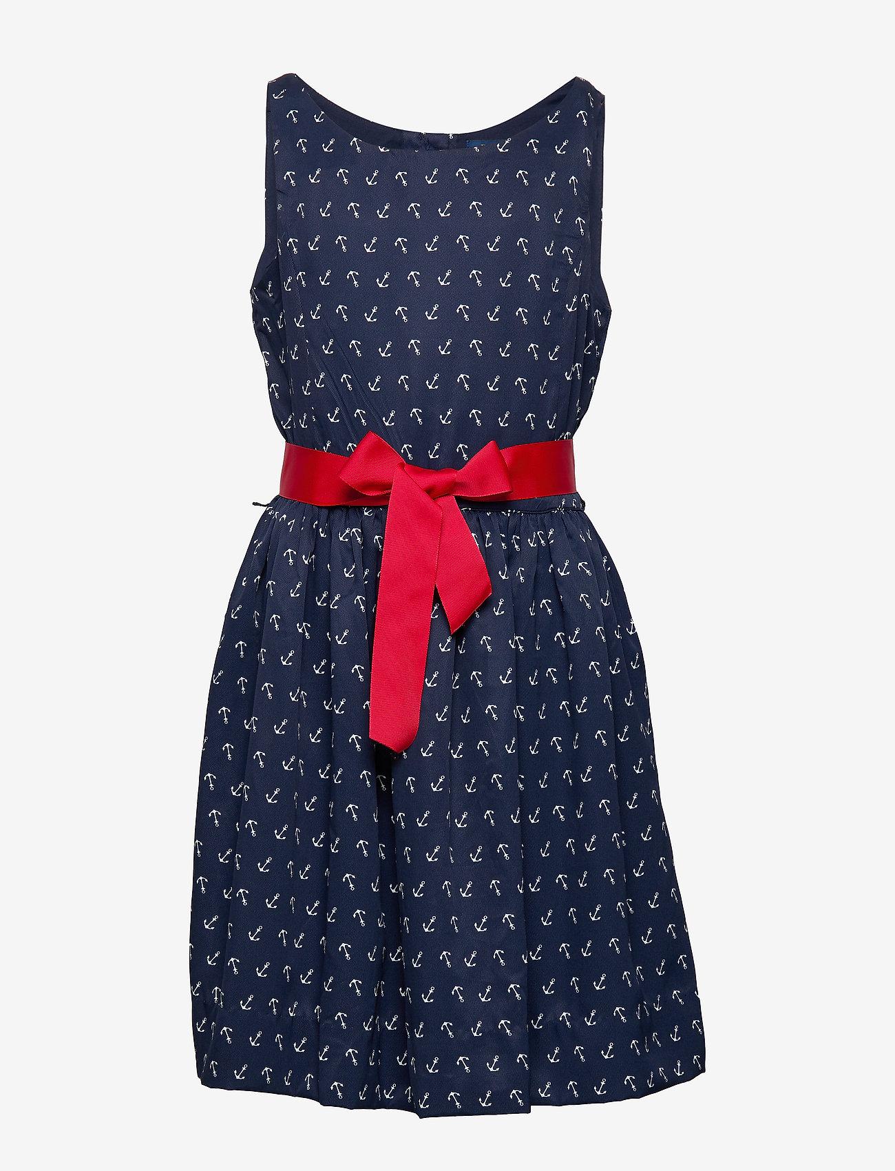 Ralph Lauren Kids - Anchor-Print Twill Dress - dresses - anchor print - 1