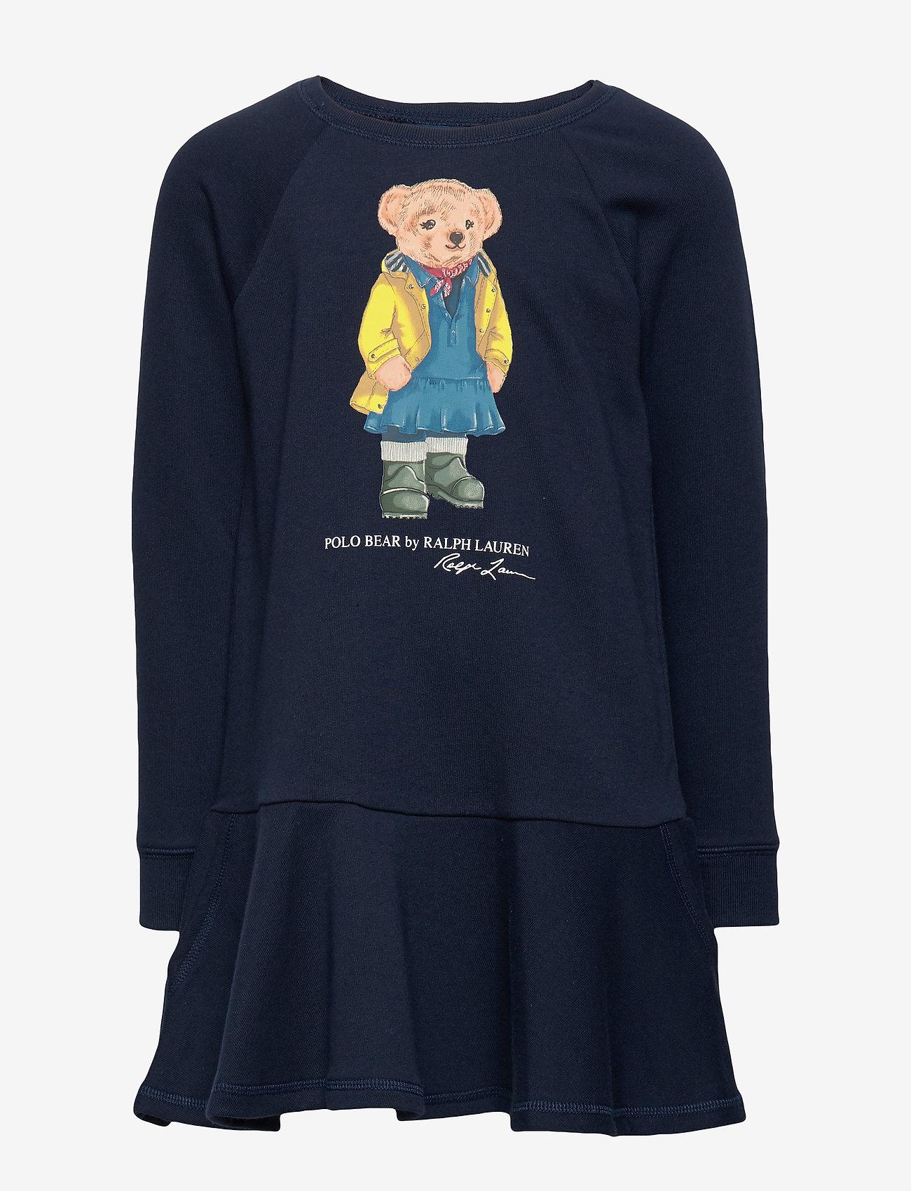 Ralph Lauren Kids - Raincoat Bear Terry Dress - dresses - hunter navy - 0