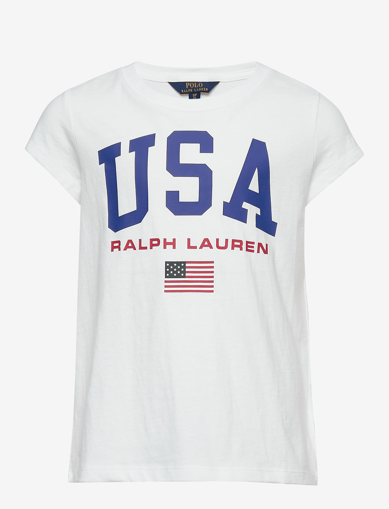 Ralph Lauren Kids - Cotton Jersey Graphic Tee - short-sleeved - pure white