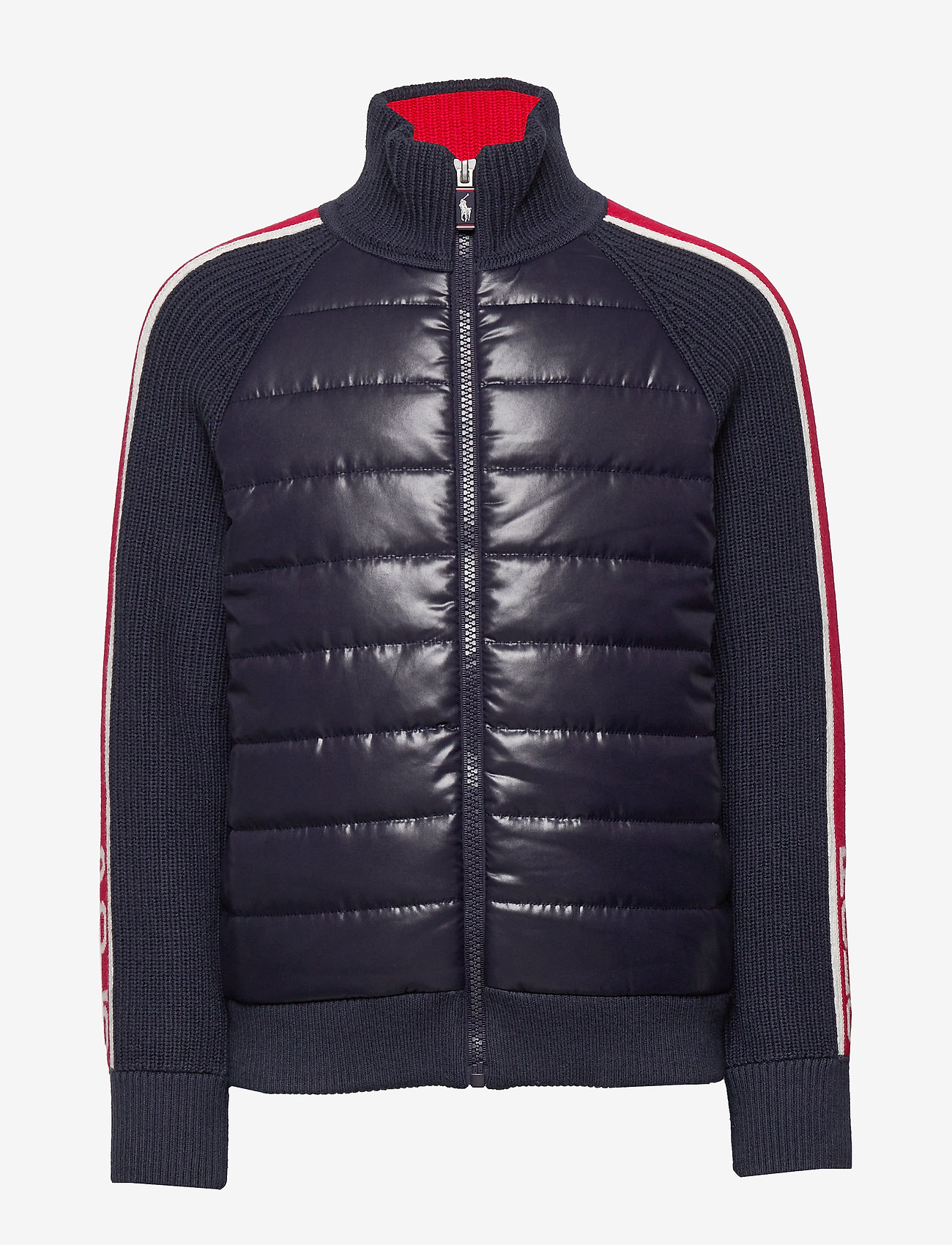 Ralph Lauren Kids - Cotton-Blend Hybrid Jacket - dunjakker & forede jakker - rl navy - 0