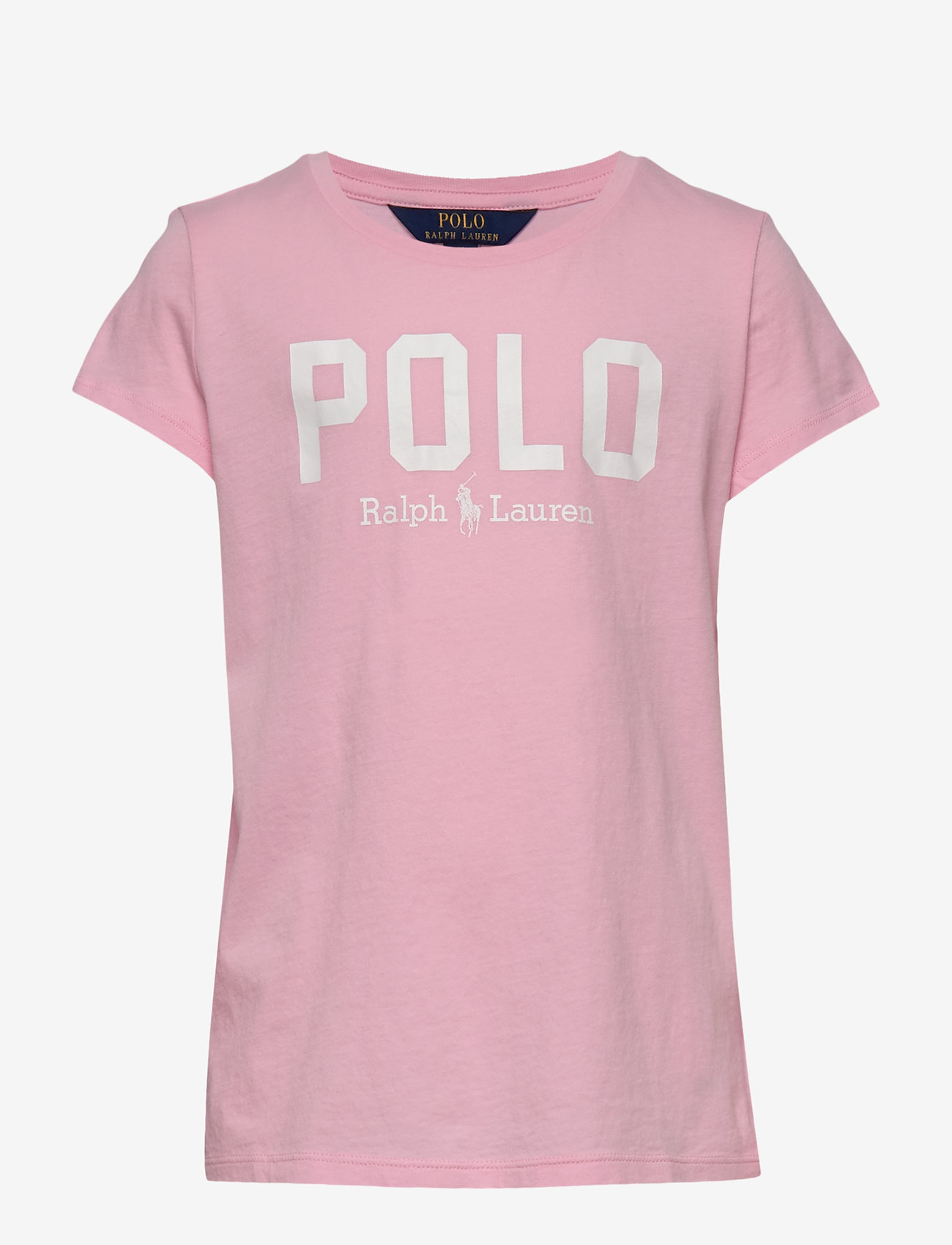 Ralph Lauren Kids - Logo Cotton Jersey Tee - short-sleeved - carmel pink - 0