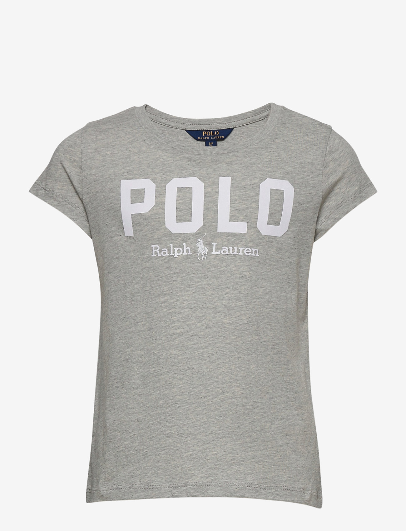 Ralph Lauren Kids - Logo Cotton Jersey Tee - short-sleeved - spring heather - 0