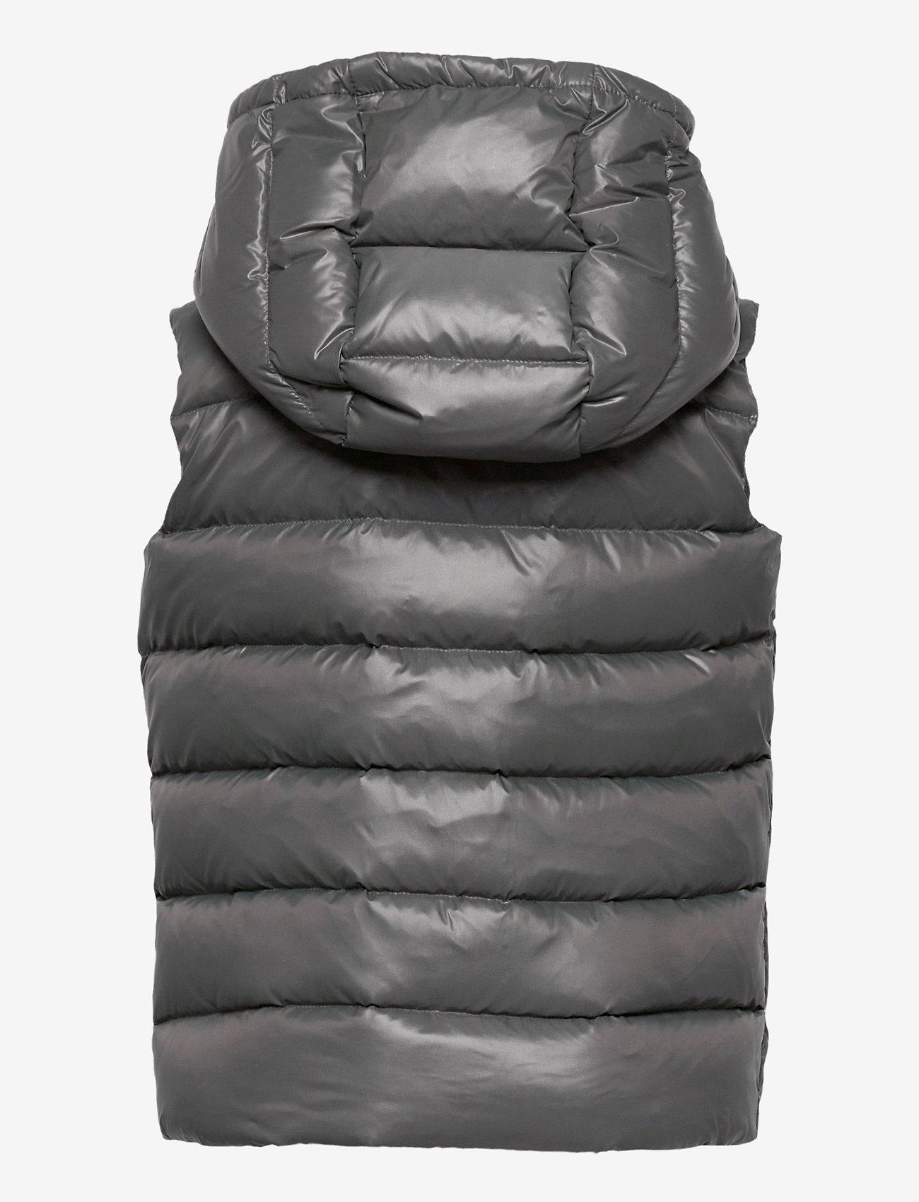 Ralph Lauren Kids - POLY PLAINWEAVE-CHANNEL VEST-OW-VST - vests - magnum grey - 1