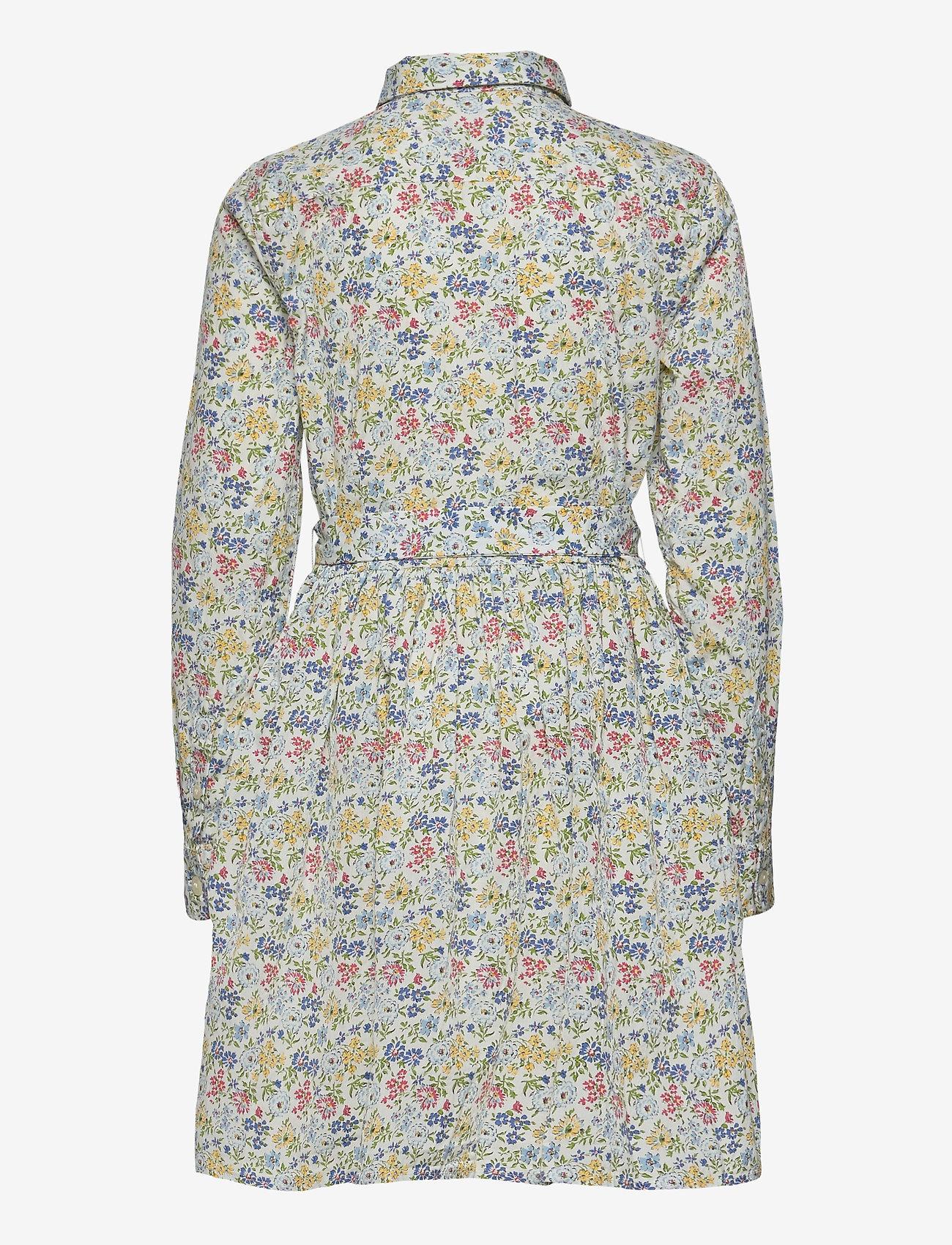 Ralph Lauren Kids - PRINTED COTTON POPL-LS SHIRTDRES-DR - dresses - white multi - 1