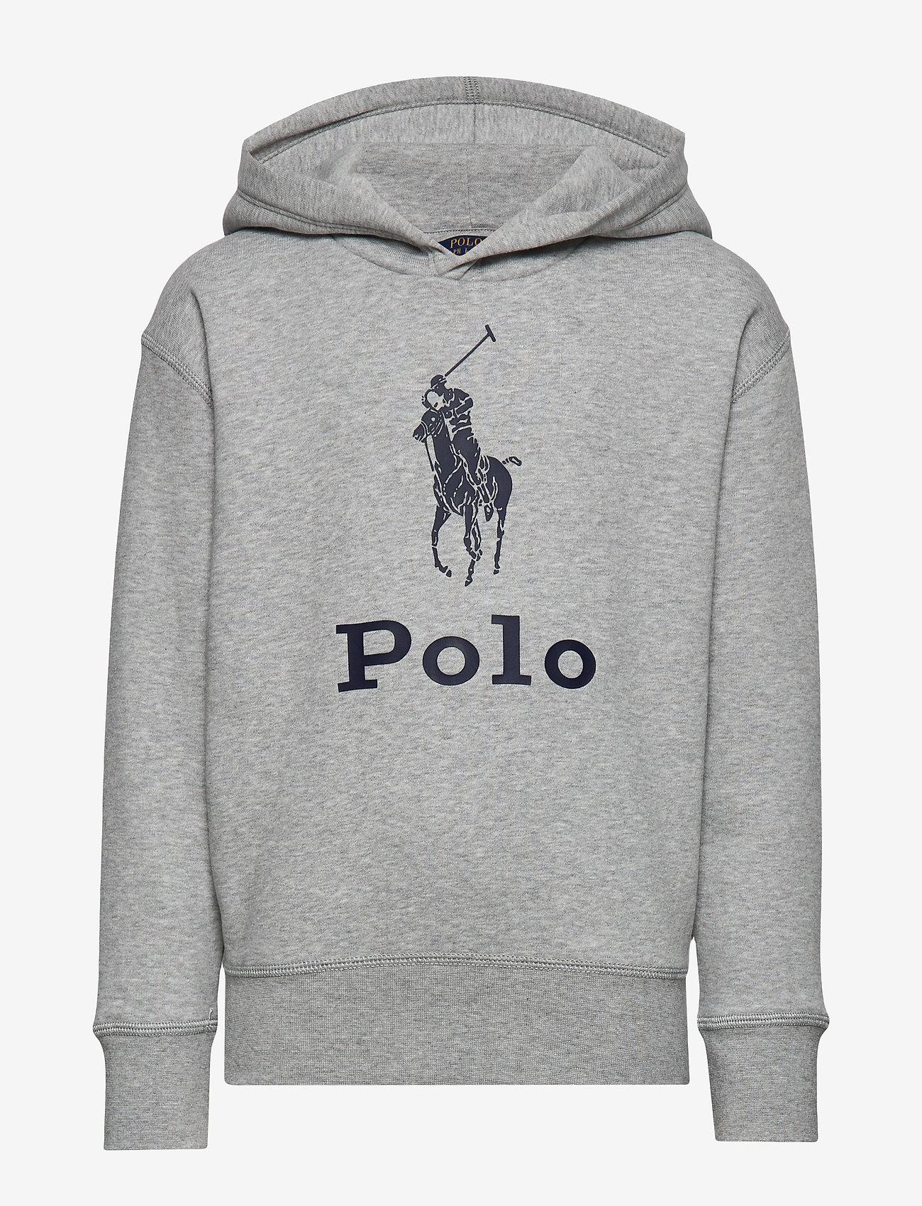 Ralph Lauren Kids - Big Pony Fleece Hoodie - hoodies - lt grey heather
