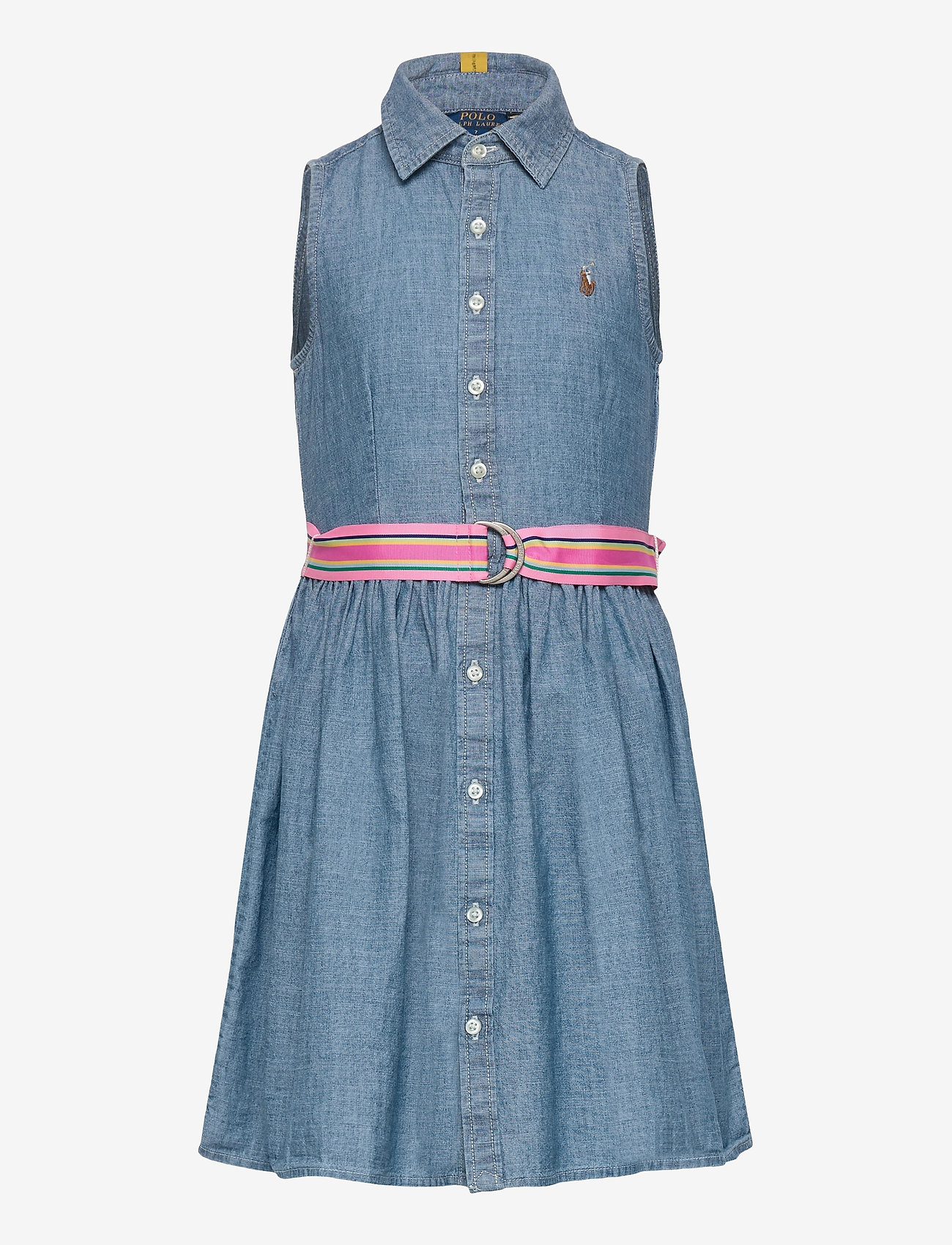 Ralph Lauren Kids - Cotton Chambray Shirtdress - jurken - indigo - 0