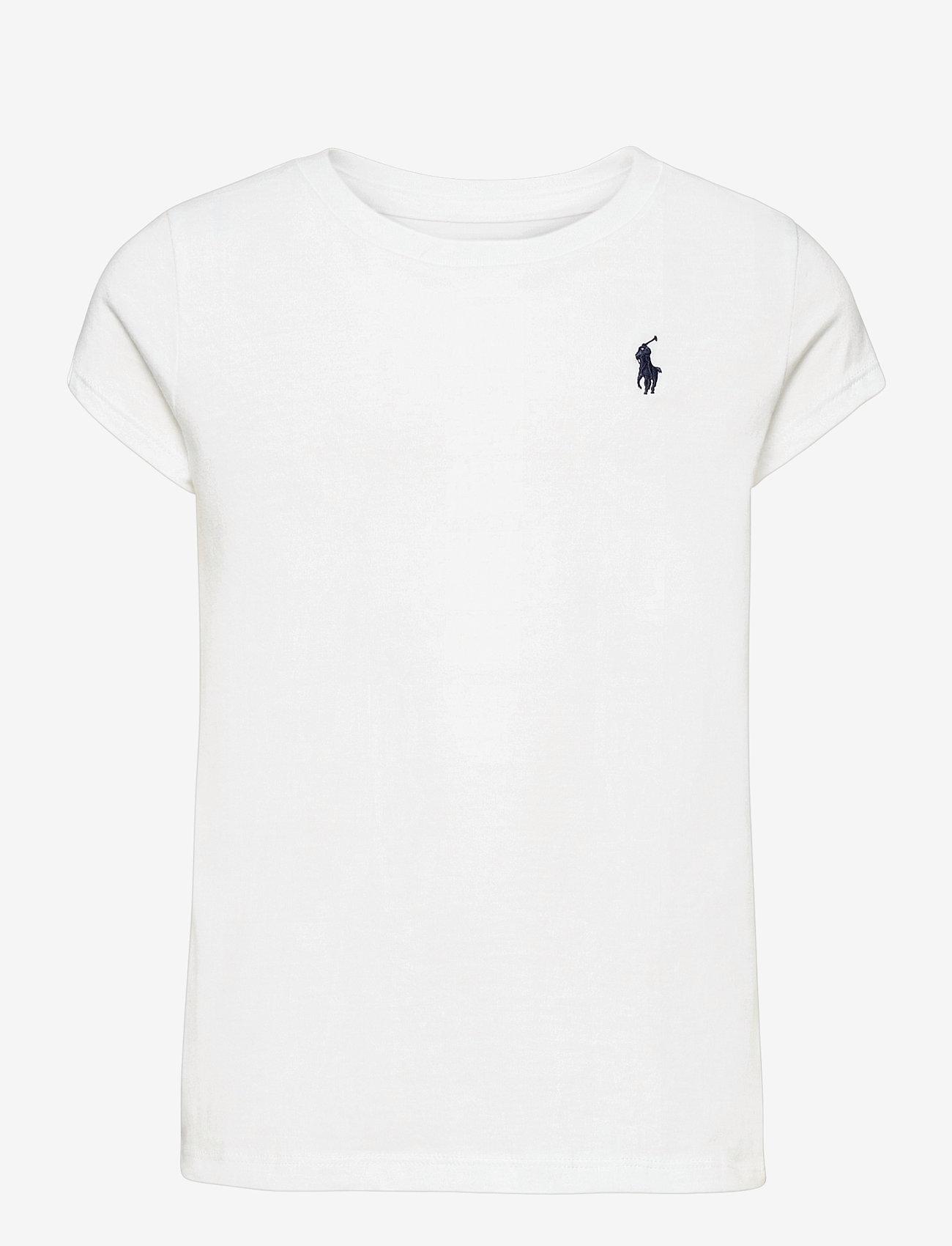 Ralph Lauren Kids - Cotton Jersey Tee - short-sleeved - white/c7996 - 0