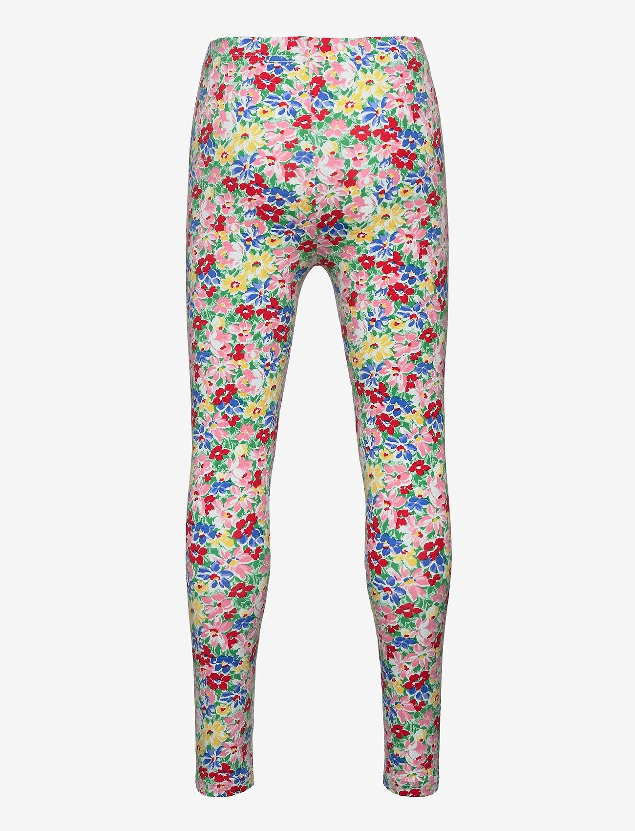 Ralph Lauren Kids - Floral Stretch Jersey Legging - leggings - red multi - 1