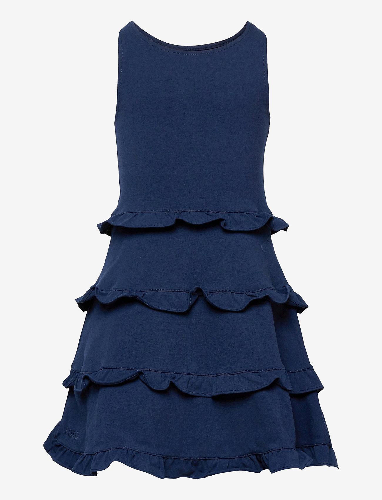 Ralph Lauren Kids - Ruffled Cotton Jersey Dress - dresses - french navy - 0