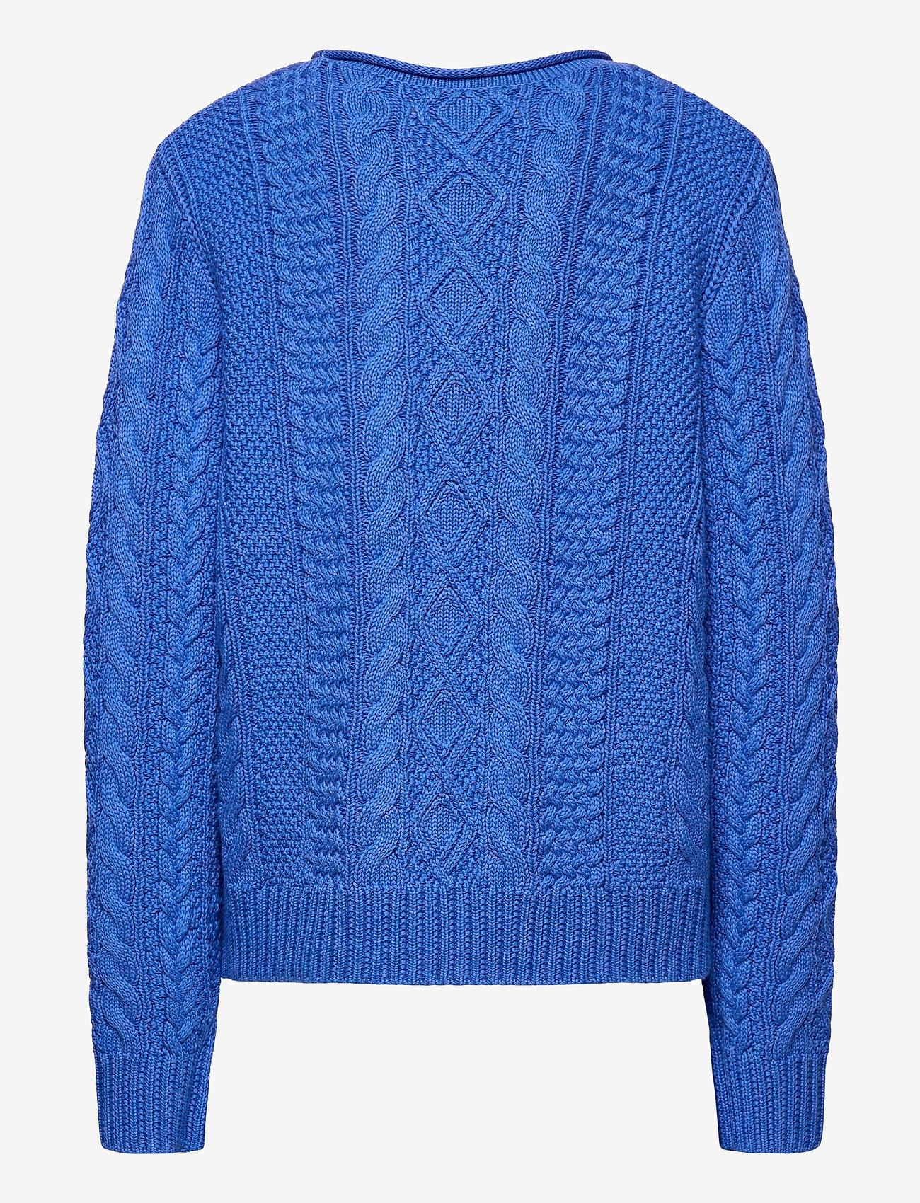 Ralph Lauren Kids - Aran-Knit Cotton Sweater - knitwear - colby blue - 1