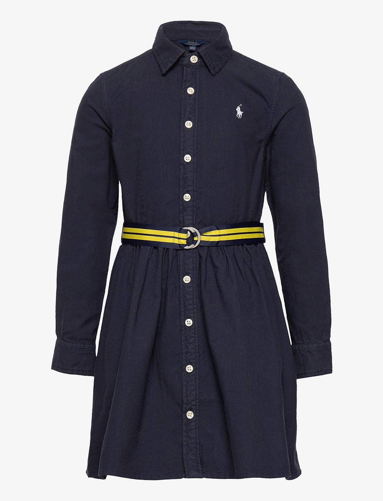 Ralph Lauren Kids - Belted Cotton Oxford Shirtdress - dresses - rl navy - 0