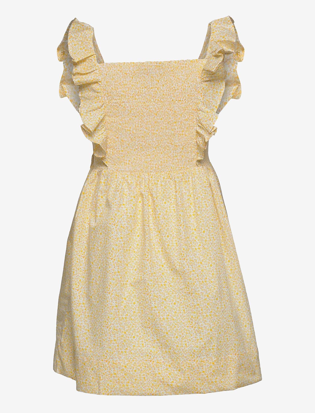 Ralph Lauren Kids - Floral Cotton Poplin Dress - kleider - yellow multi - 1