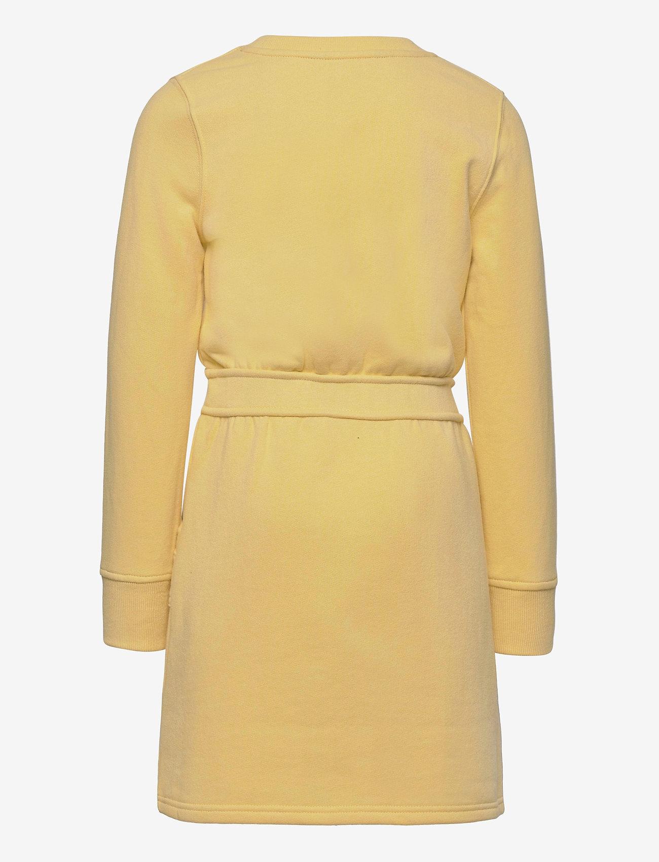 Ralph Lauren Kids - Floral Logo Fleece Dress - dresses - banana peel - 1