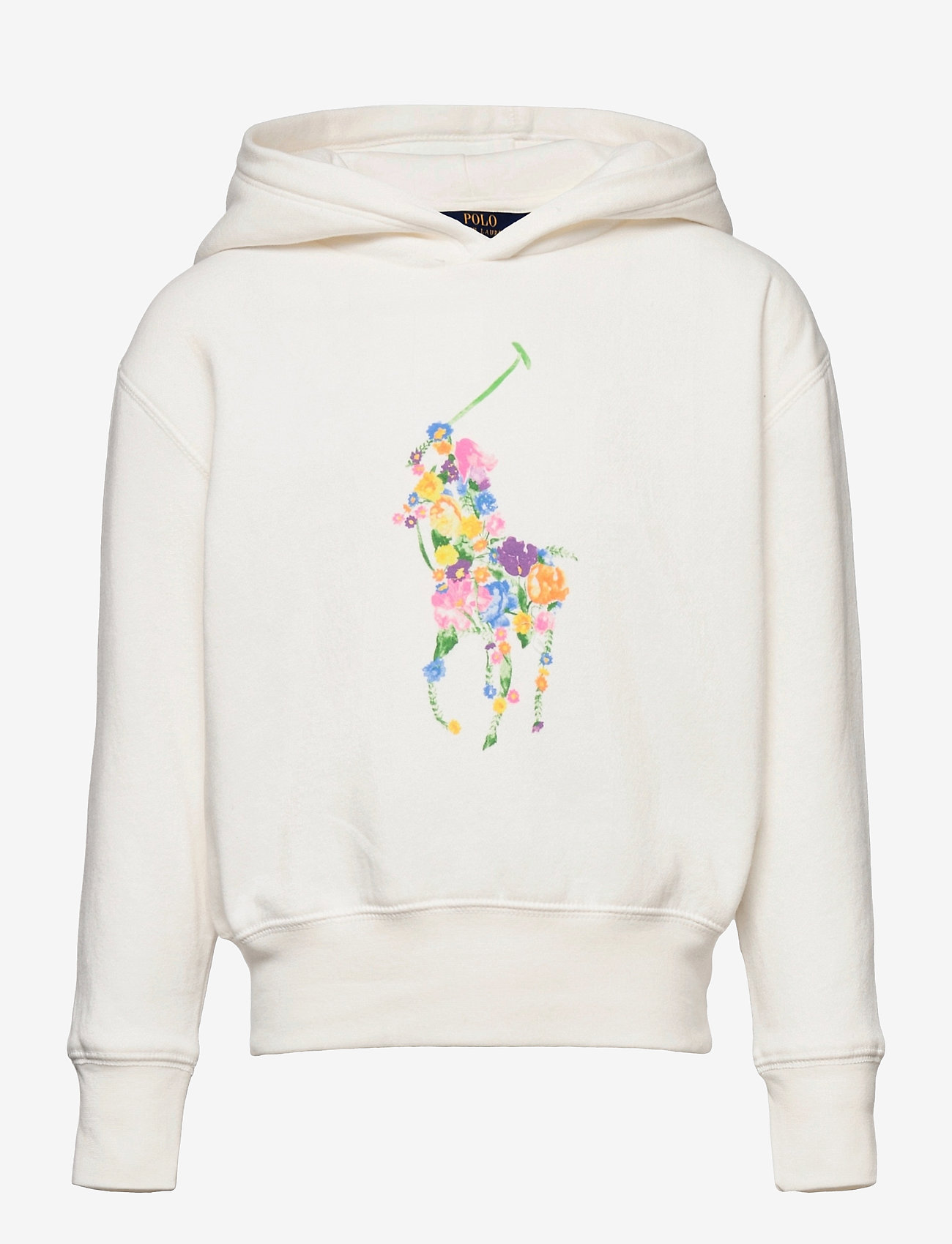 Ralph Lauren Kids - Floral-Pony Fleece Hoodie - hoodies - trophy cream - 0