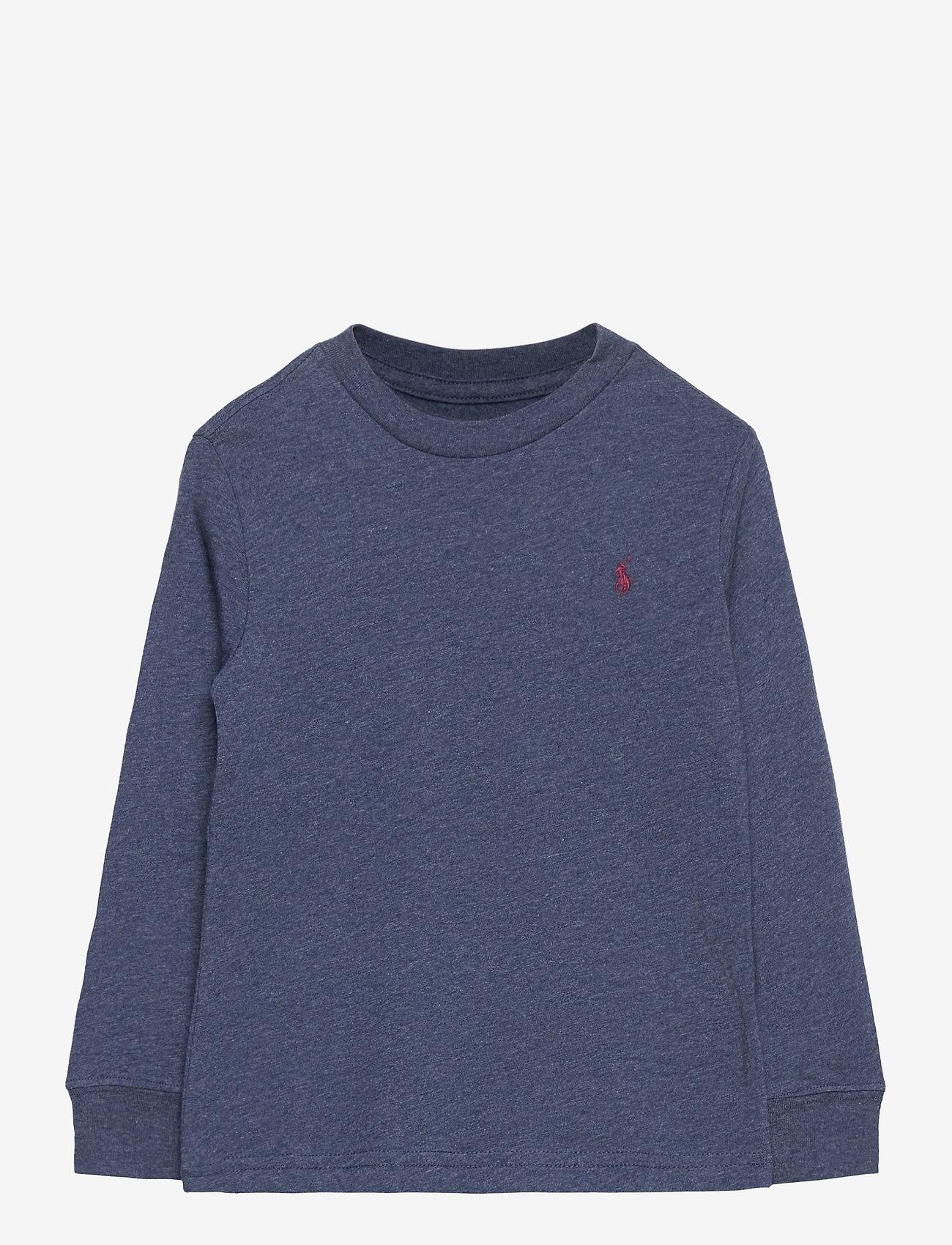 Ralph Lauren Kids - Cotton Jersey Long-Sleeve Tee - long-sleeved t-shirts - fresco blue hthr - 0