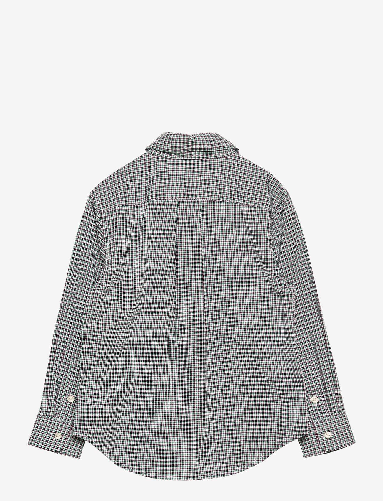 Ralph Lauren Kids - Plaid Cotton Poplin Shirt - overhemden - green/wine - 1