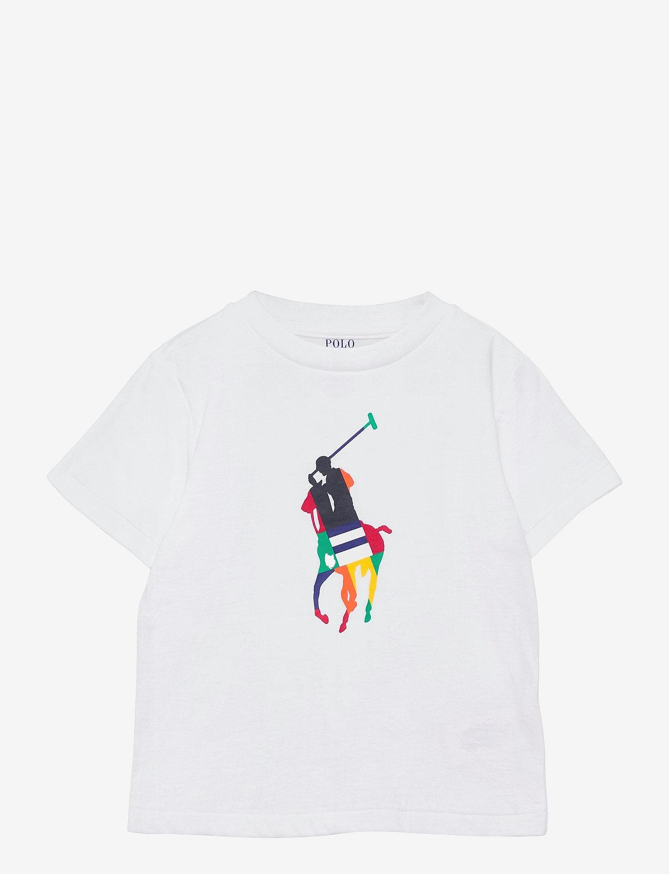 Ralph Lauren Kids - Big Pony Cotton Jersey Tee - pattern short-sleeved t-shirt - white - 0