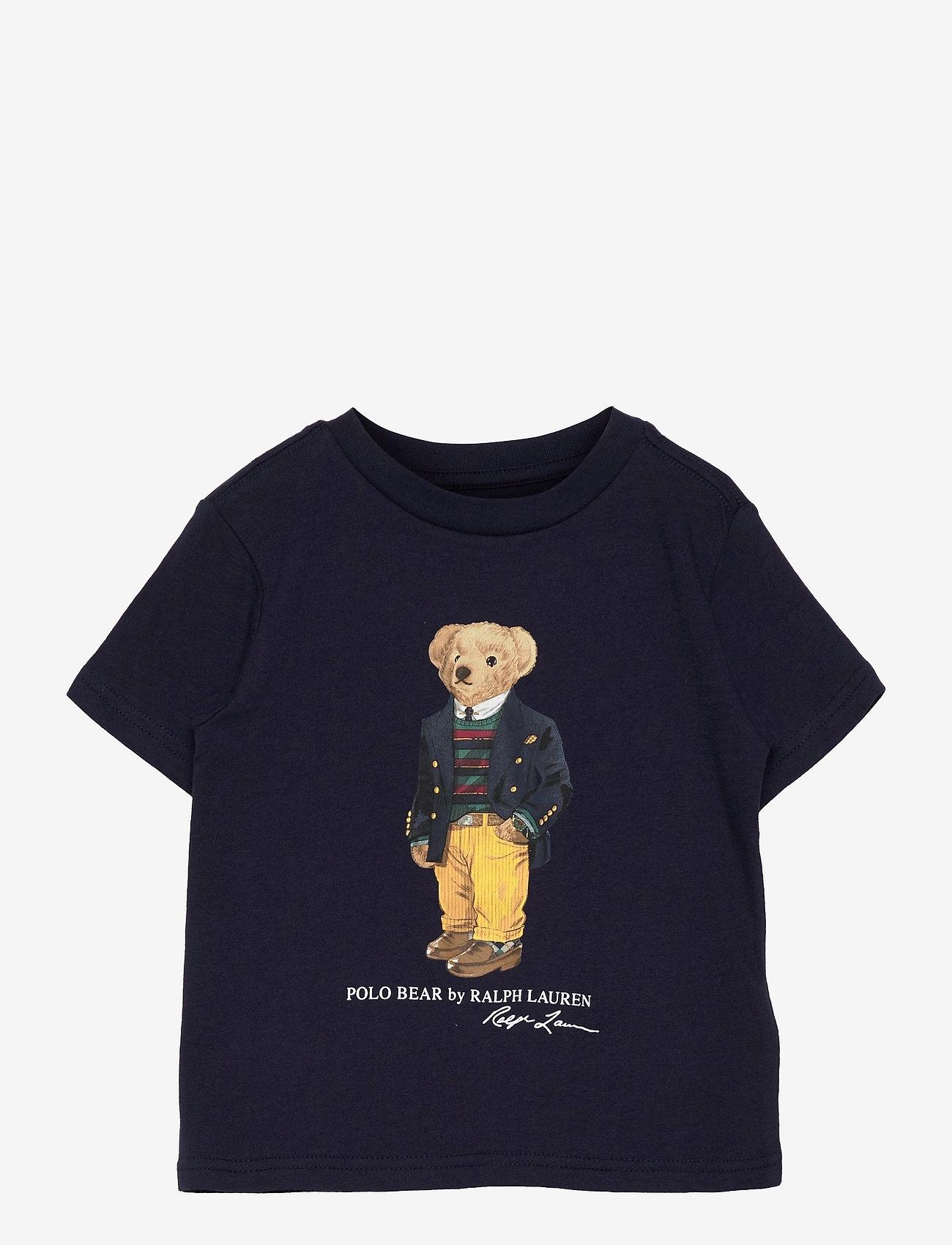 Ralph Lauren Kids - Polo Bear & Big Pony Cotton Tee - pattern short-sleeved t-shirt - cruise navy - 0