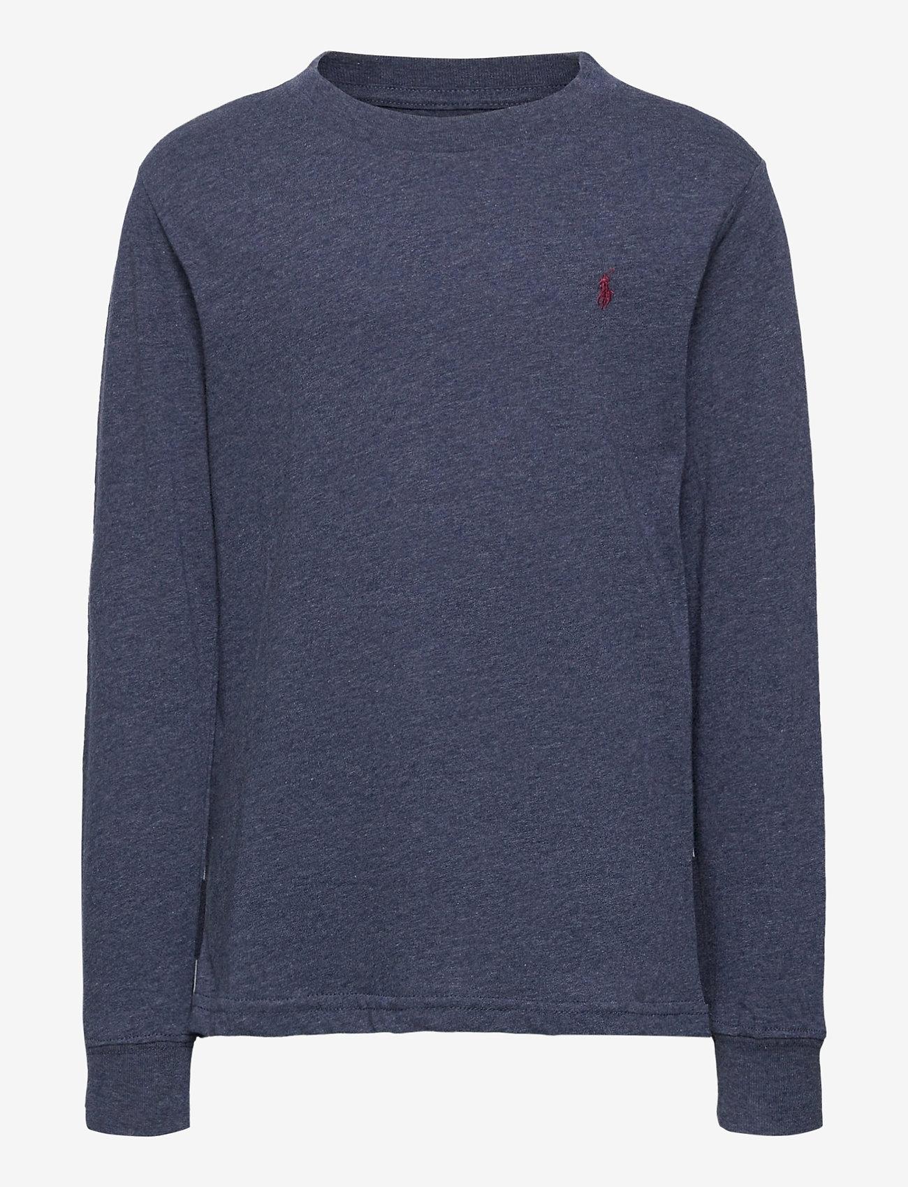 Ralph Lauren Kids - Cotton Jersey Long-Sleeve Tee - long-sleeved t-shirts - fresco blue hthr - 1