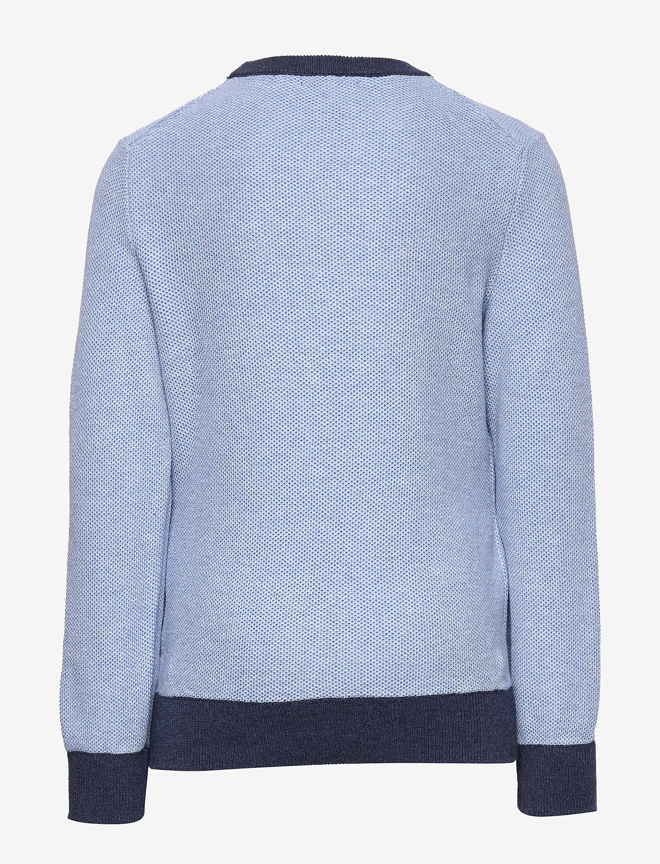 Ralph Lauren Kids - Textured Cotton Sweater - knitwear - chambray heather - 1