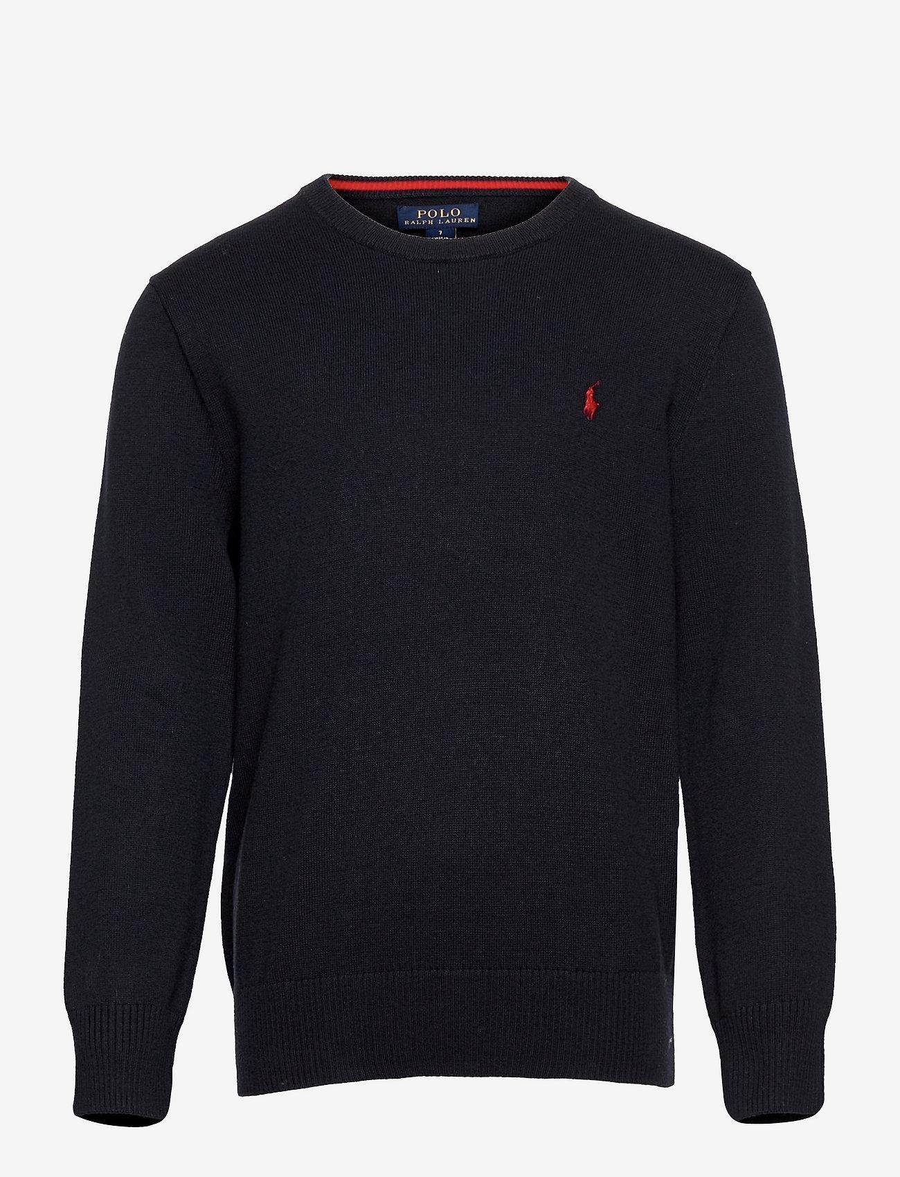Ralph Lauren Kids - Cotton Crewneck Sweater - jumpers - rl navy - 0